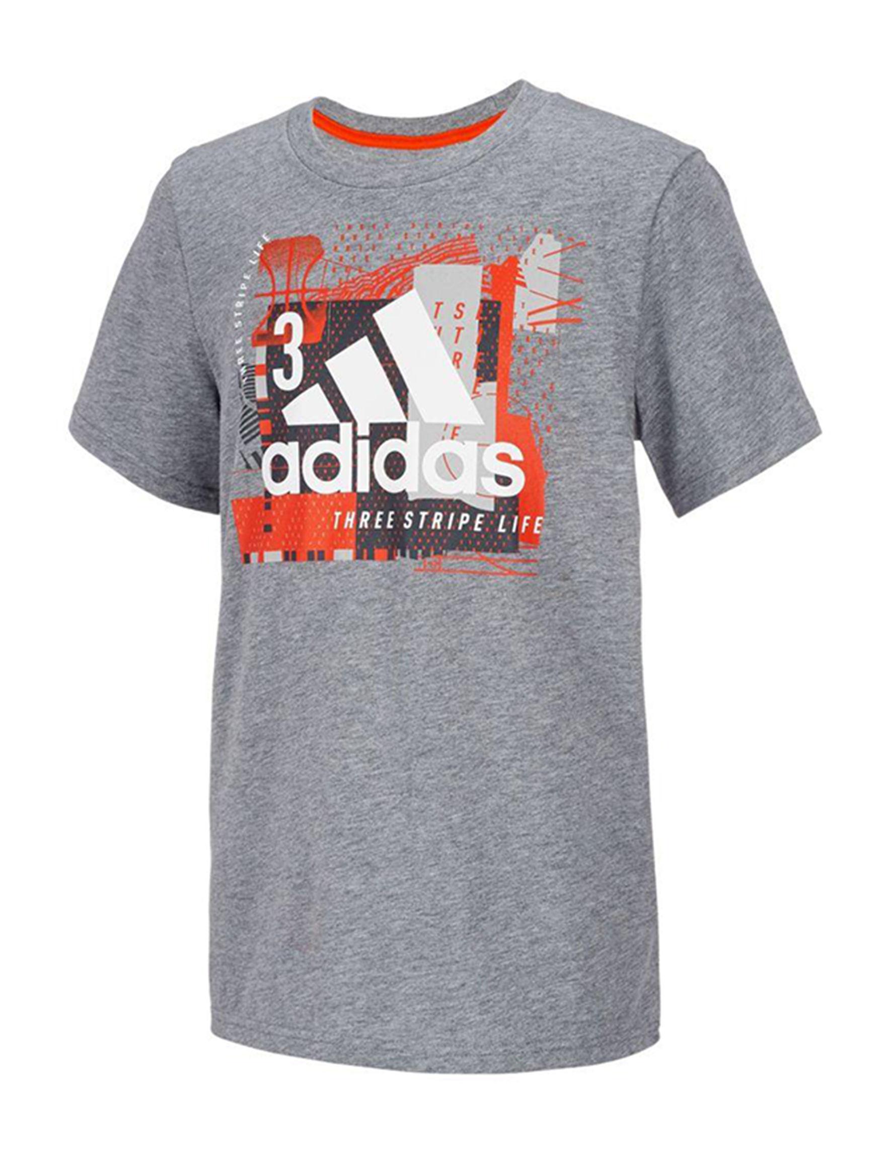 Adidas Dark Grey Tees & Tanks