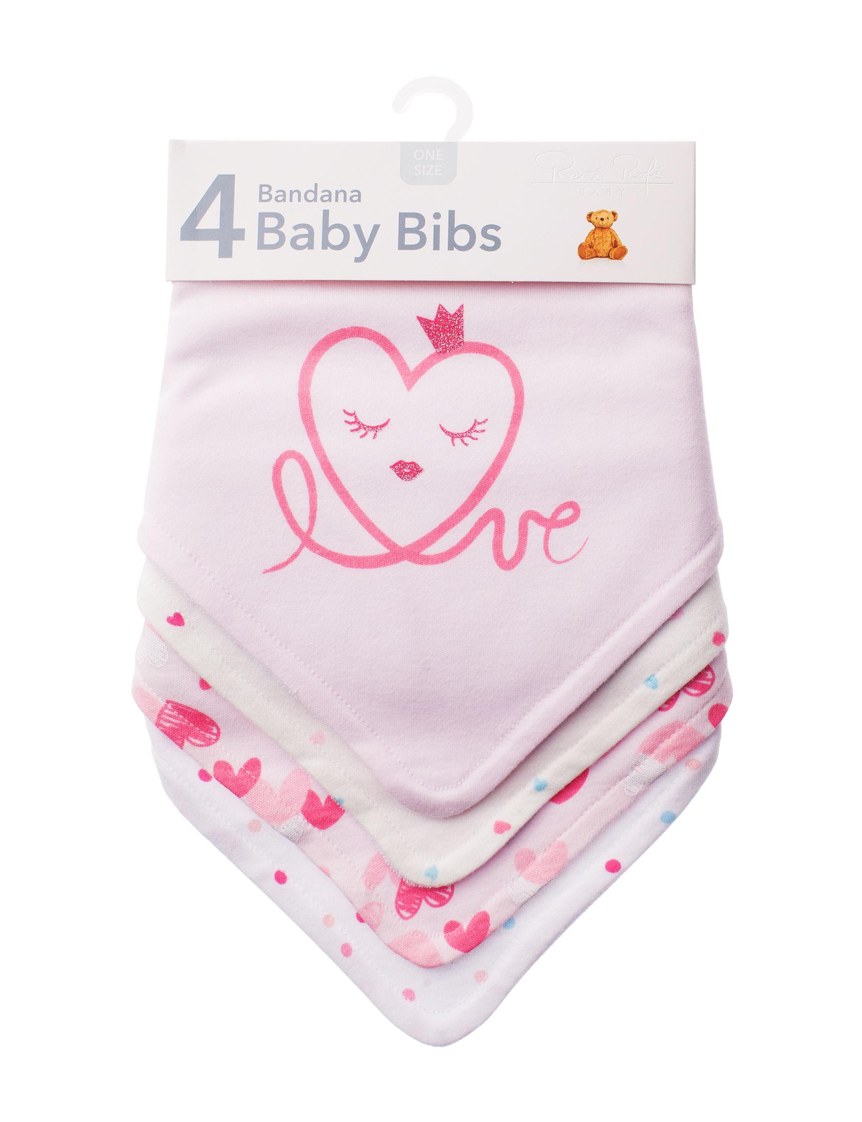 Rene Rofe Pink Multi Bibs & Burp Cloths