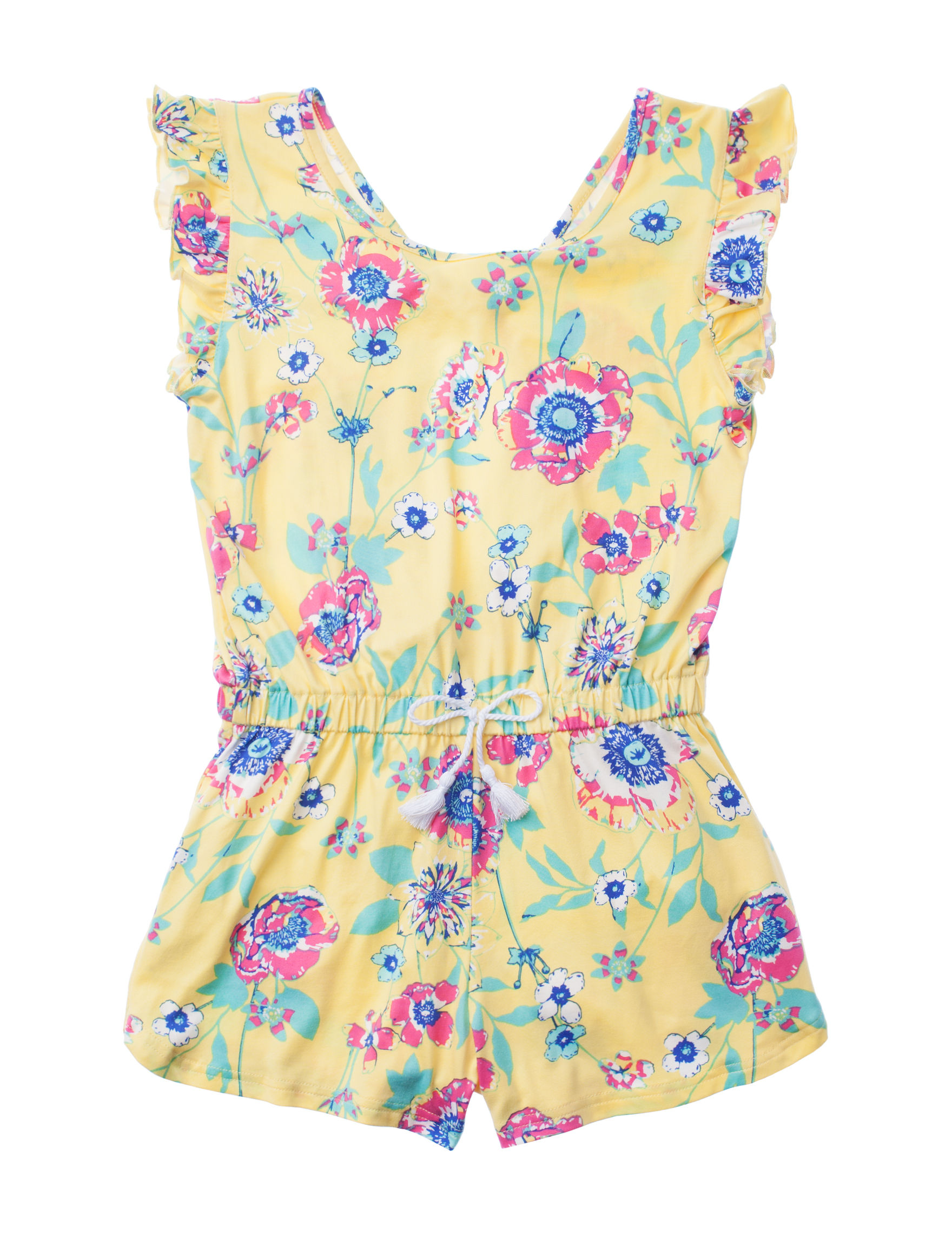 One Step Up Yellow Floral