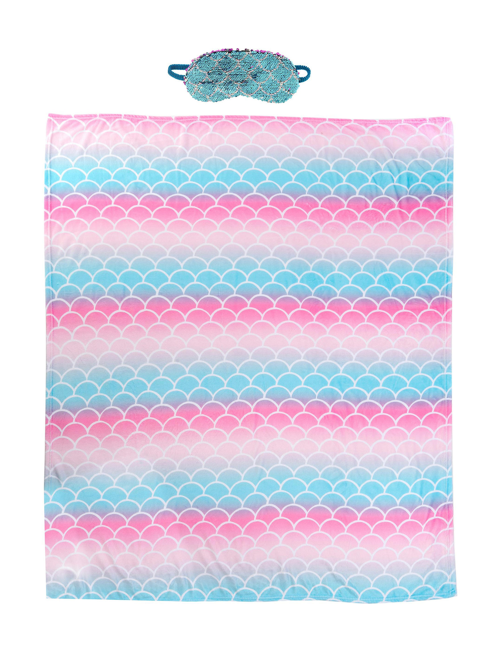 Capelli Pink / Turquoise Blankets & Throws
