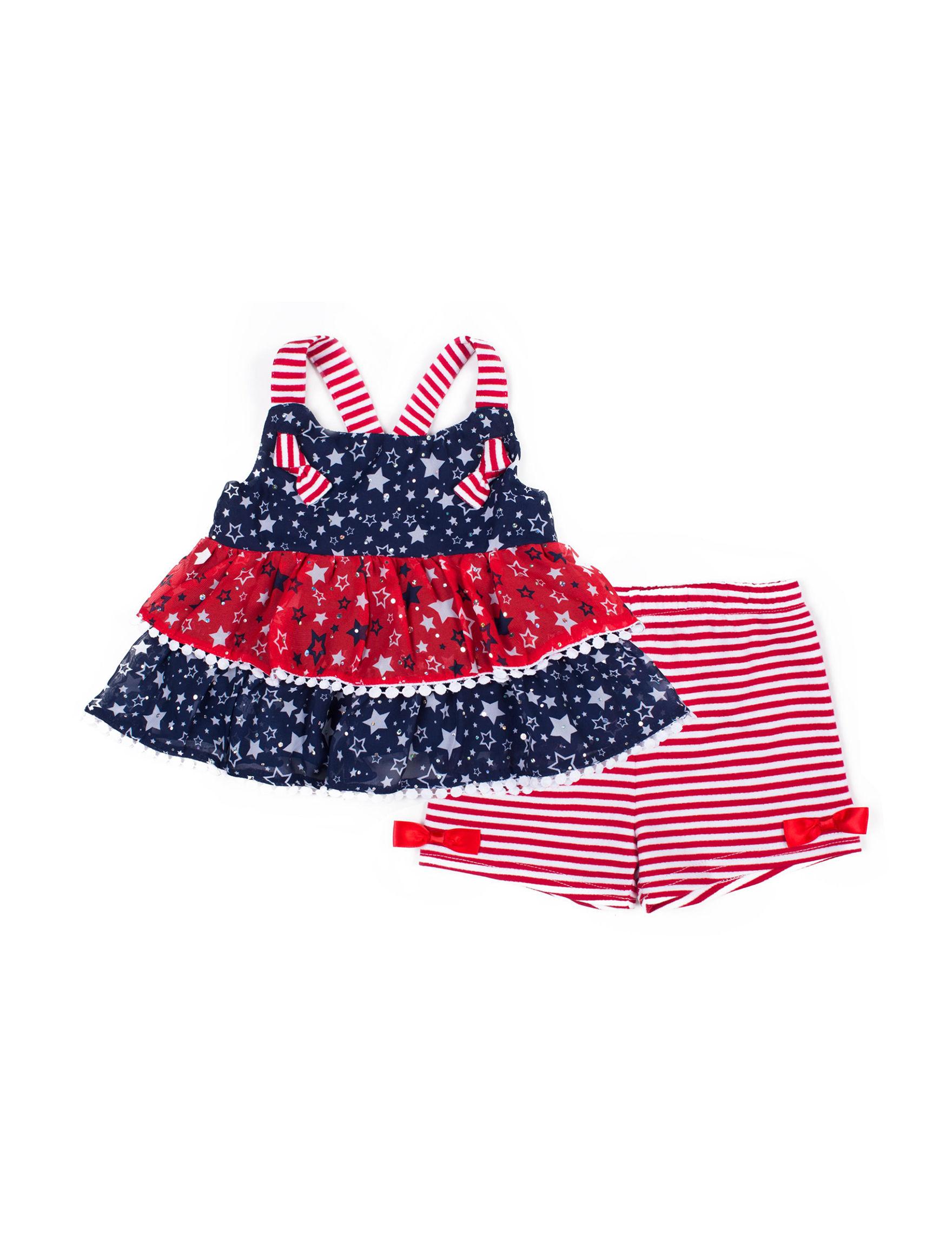 Little Lass Navy / Red / White