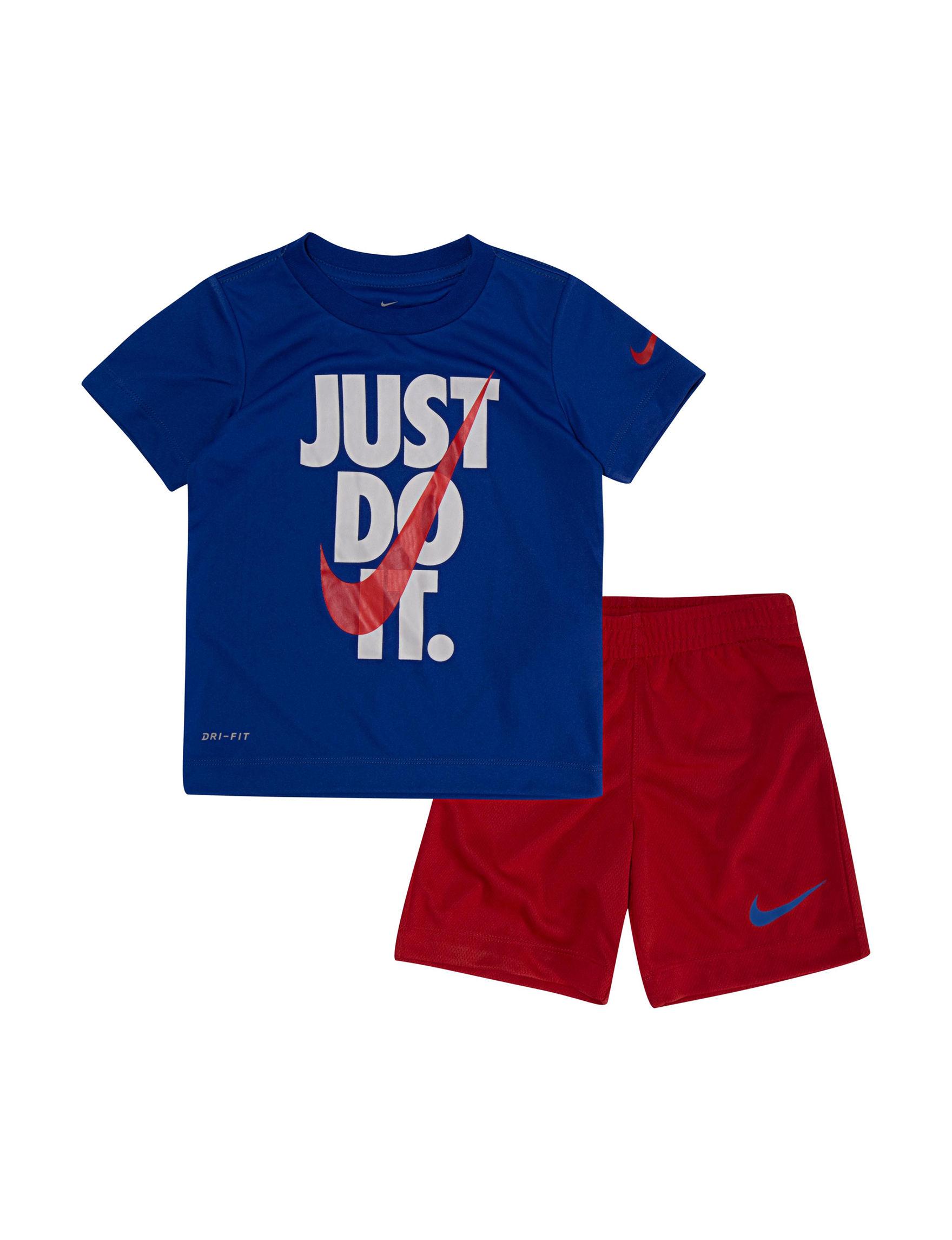 Nike Blue / Red Tees & Tanks