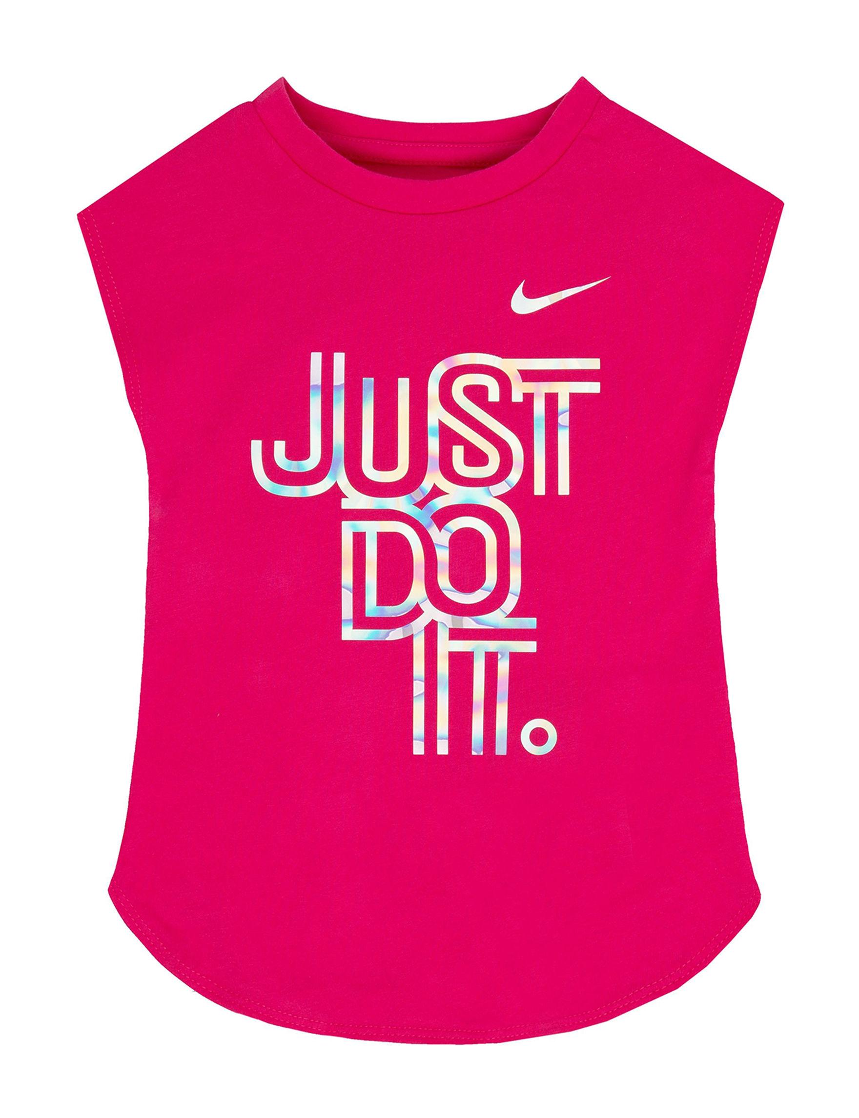 Nike Bright Pink Tees & Tanks