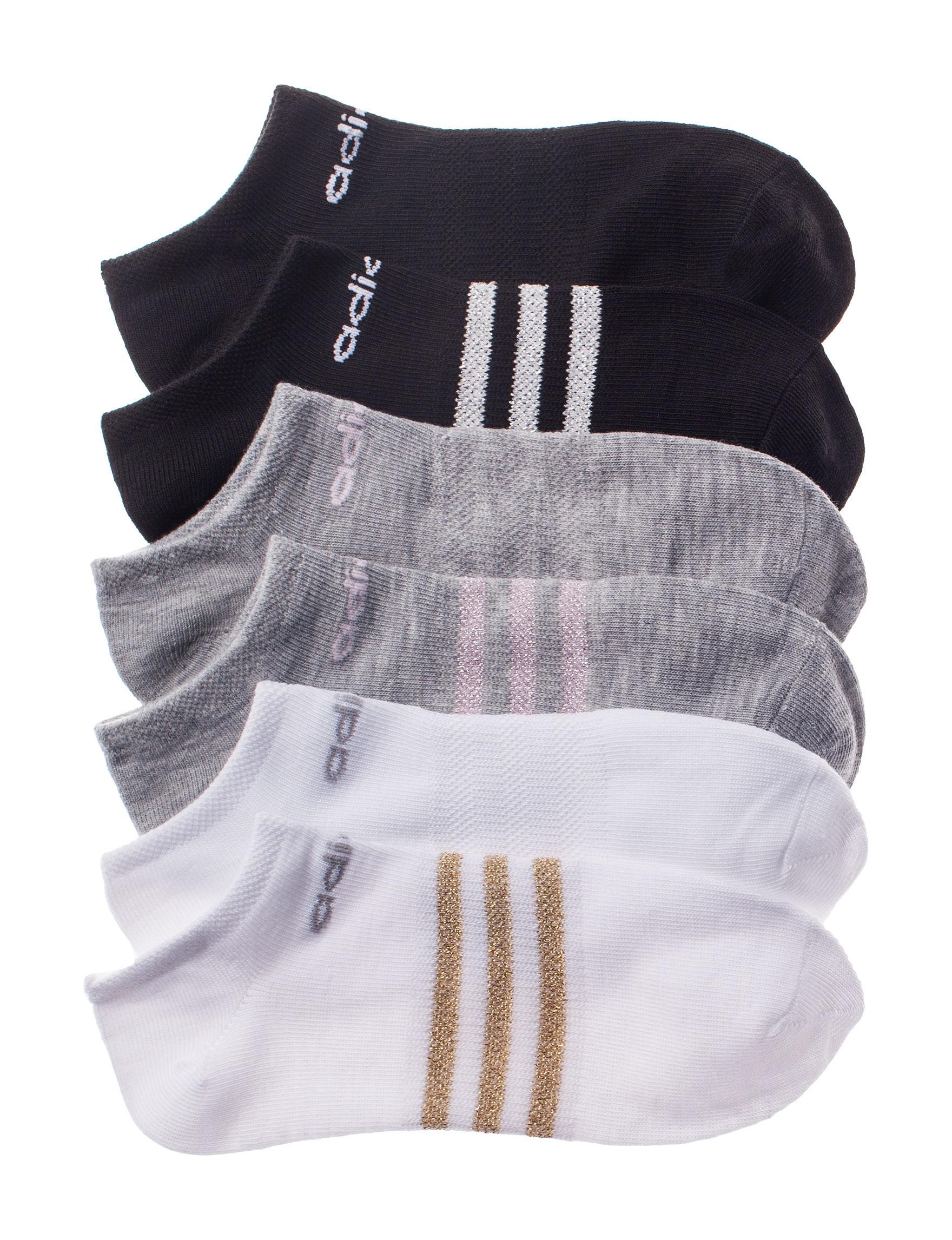 Adidas Grey / Black / White Socks