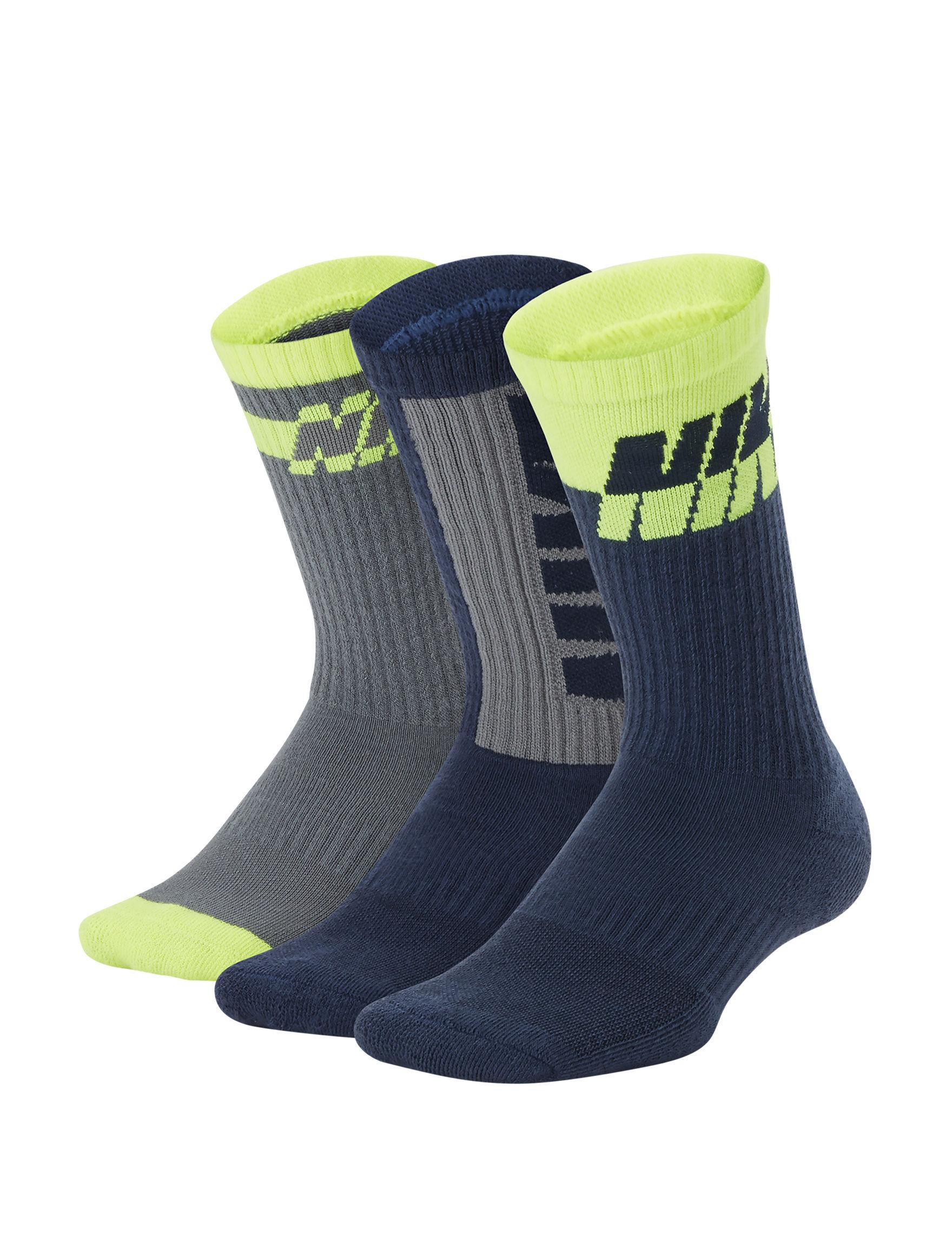 Nike Black / Grey / Volt Socks