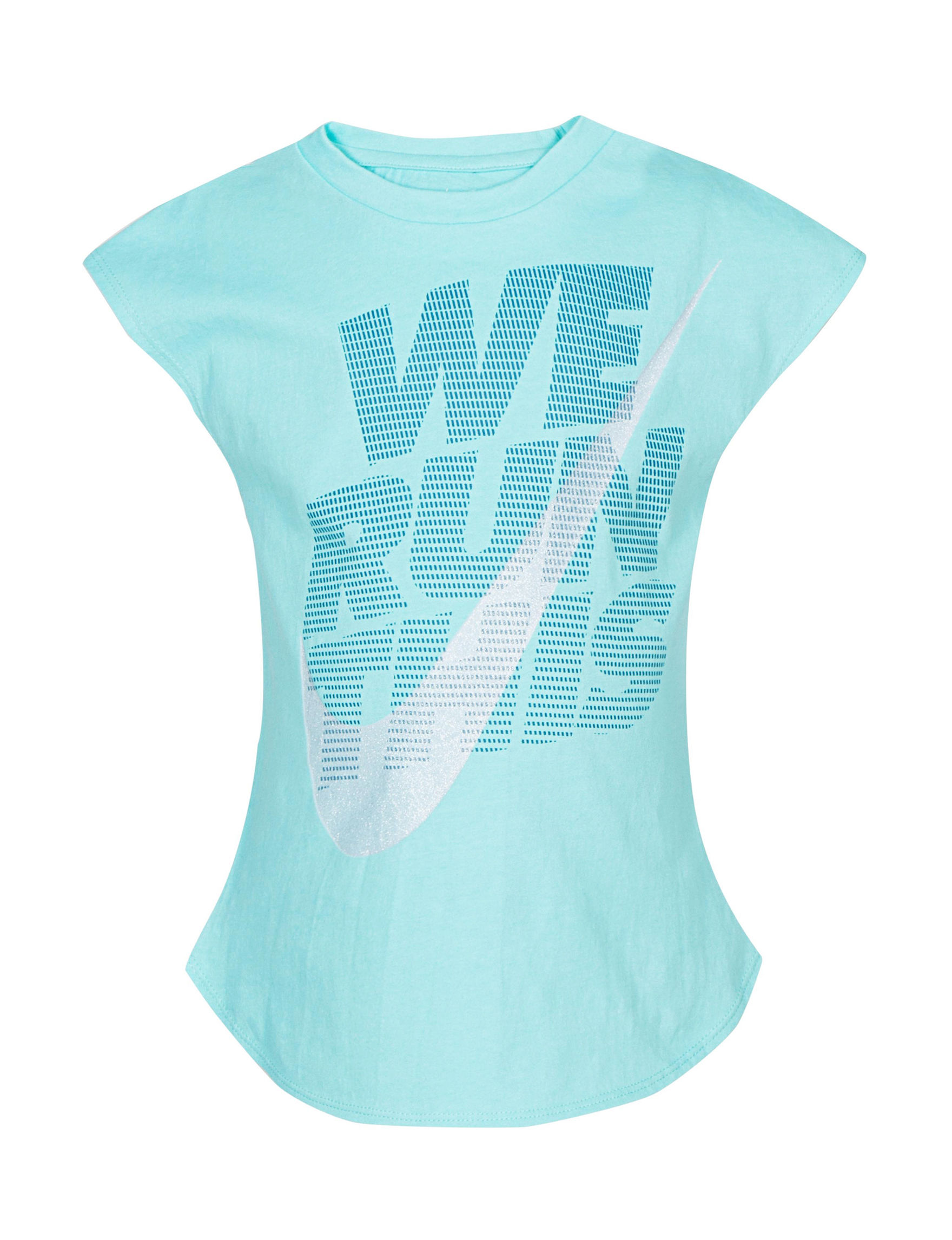 Nike Light Aqua Tees & Tanks