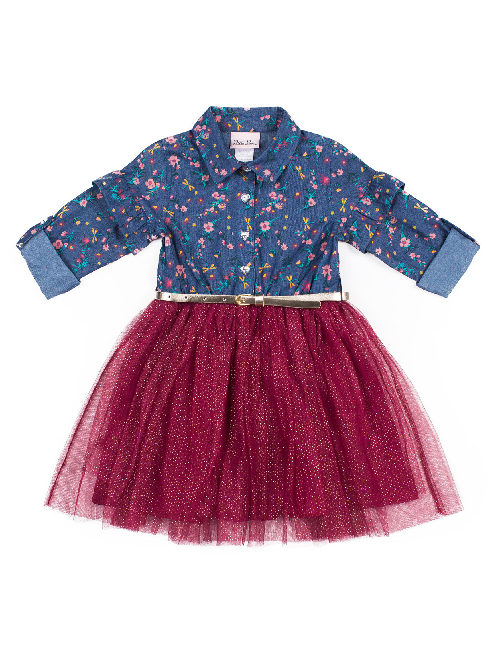 Little Lass Blue / Burgundy