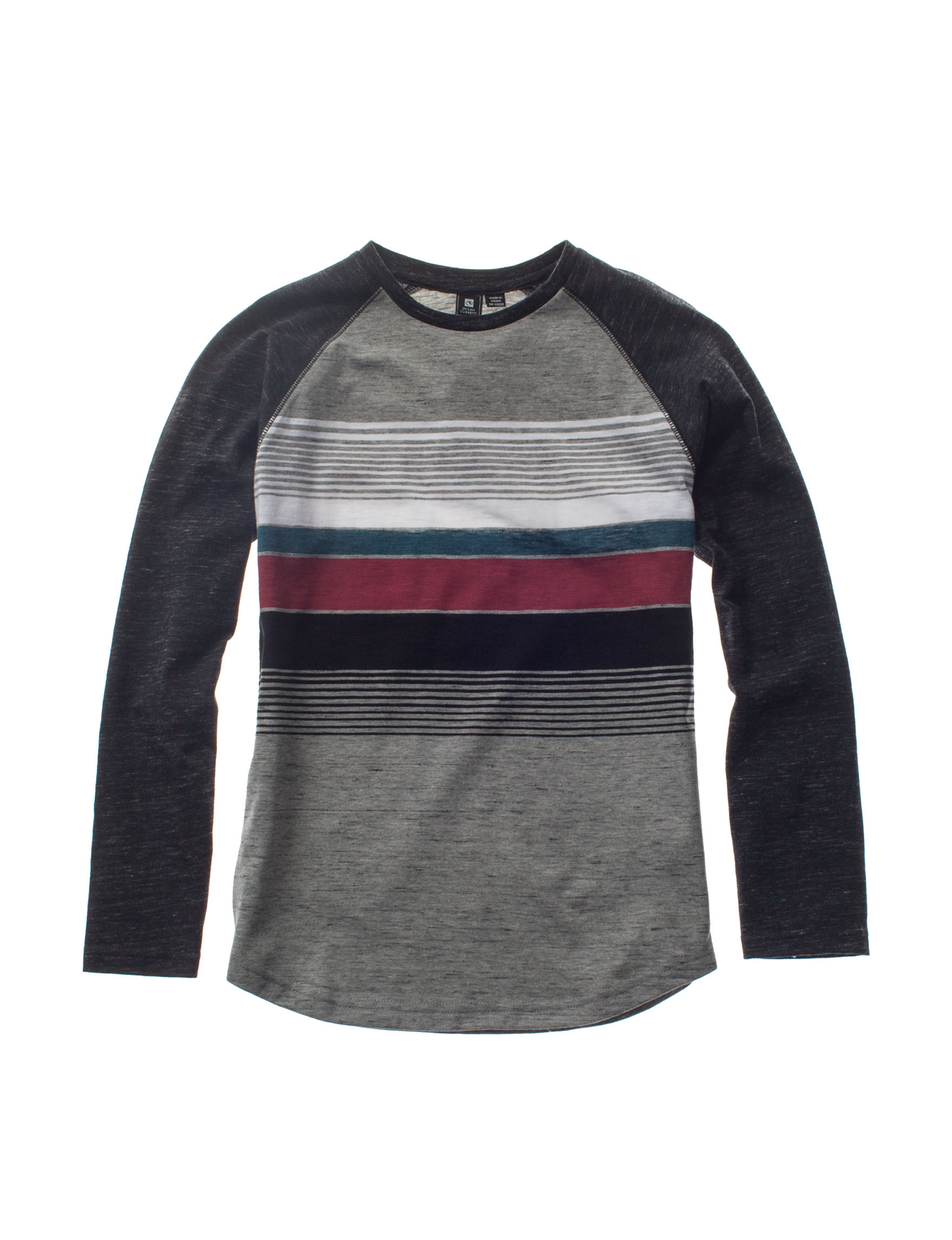 Ocean Current Black Stripe Tees & Tanks