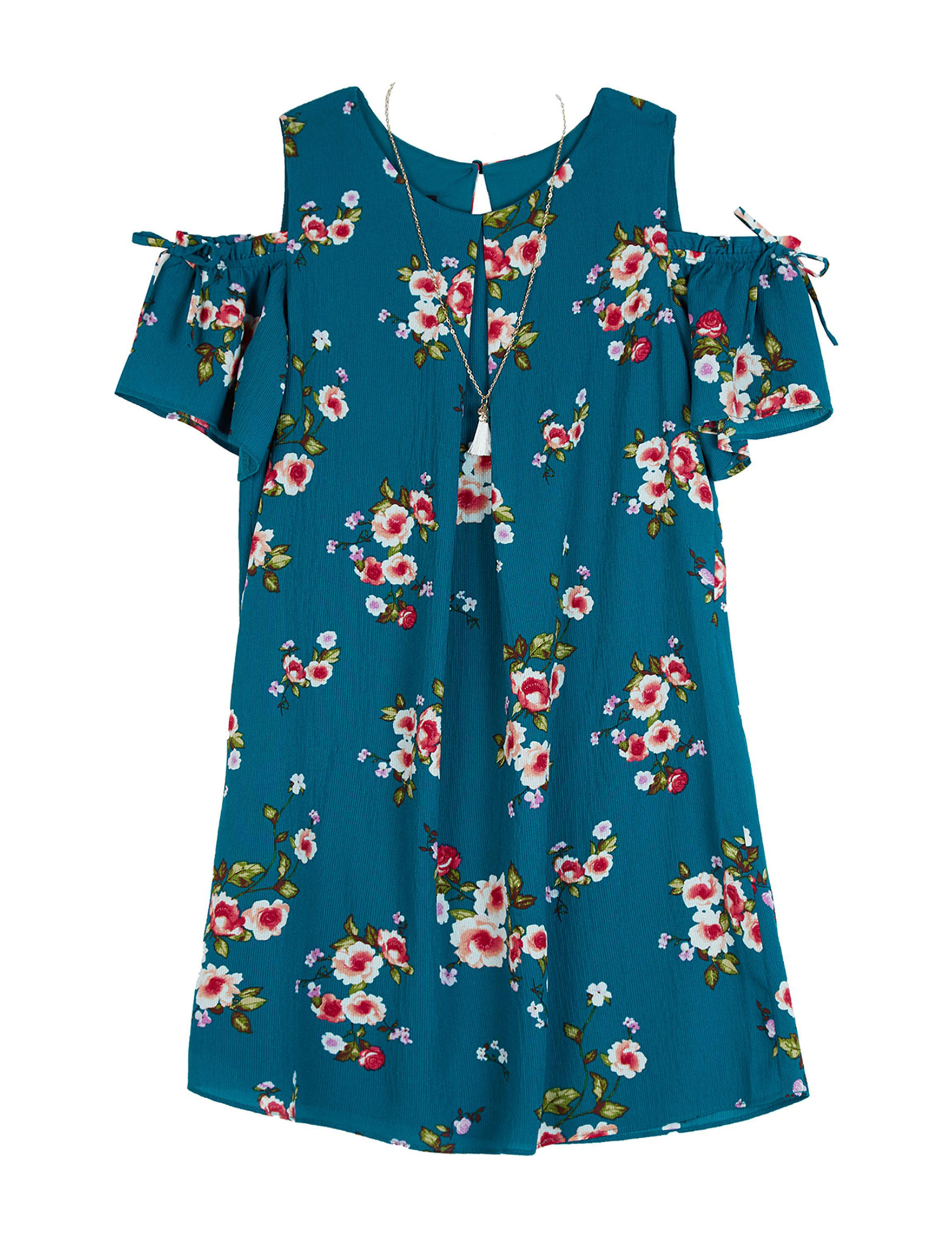 Amy Byer Teal Floral