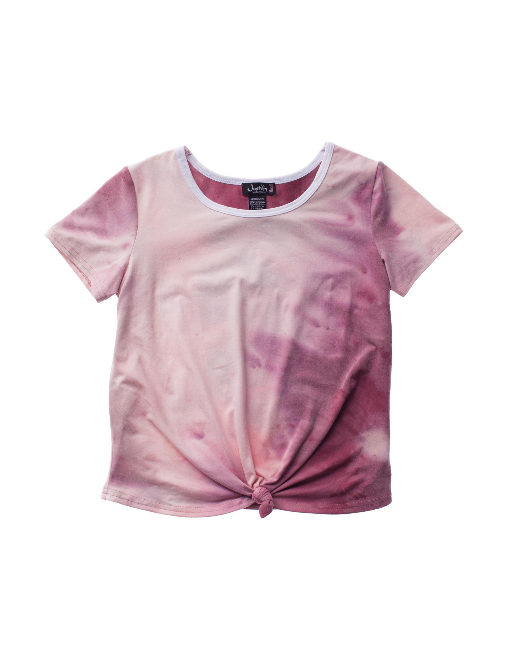 Justify Pink Tie Dye Tees & Tanks
