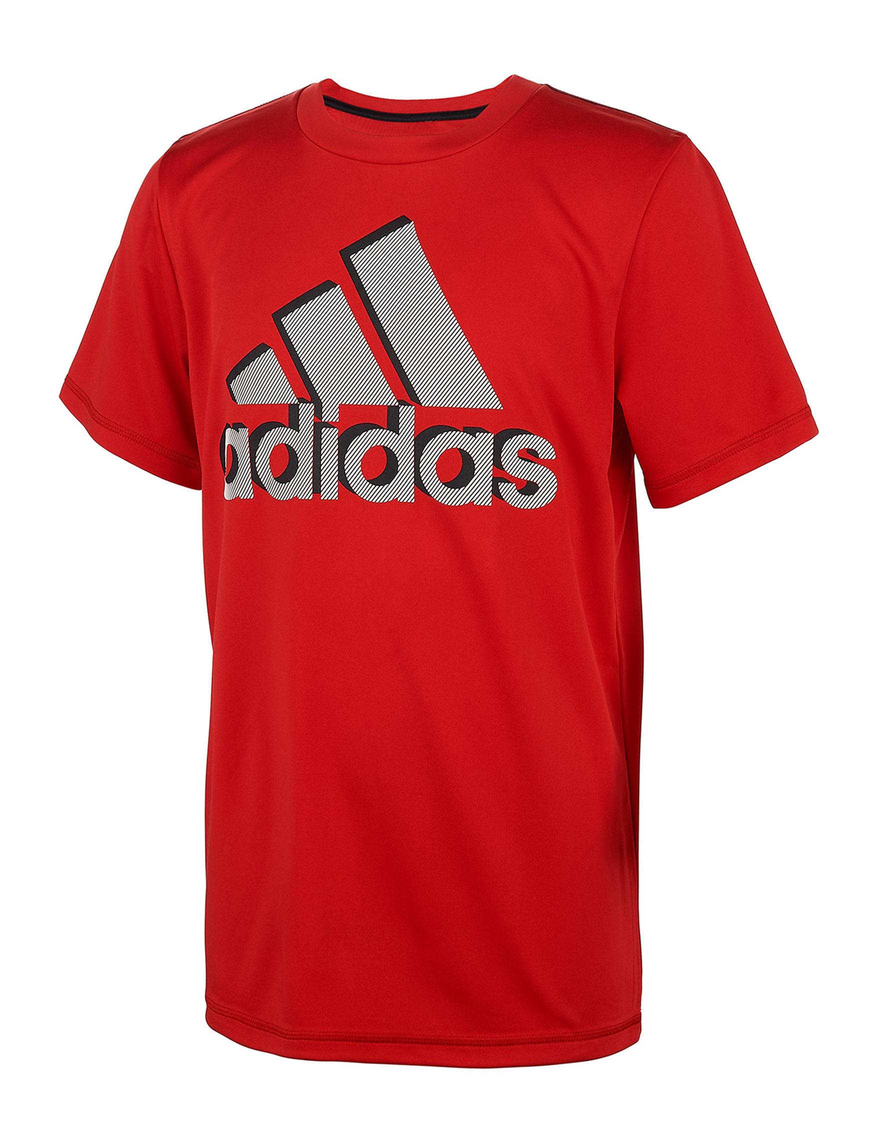 Adidas Red / Black / White Tees & Tanks