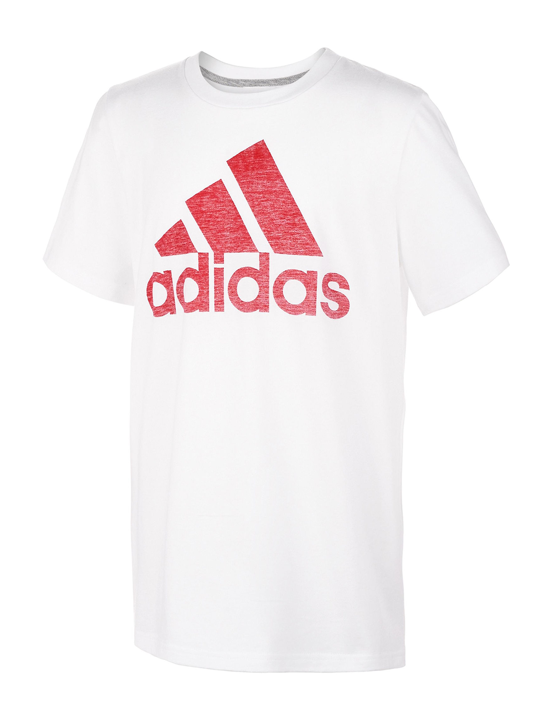 Adidas White / Red Tees & Tanks