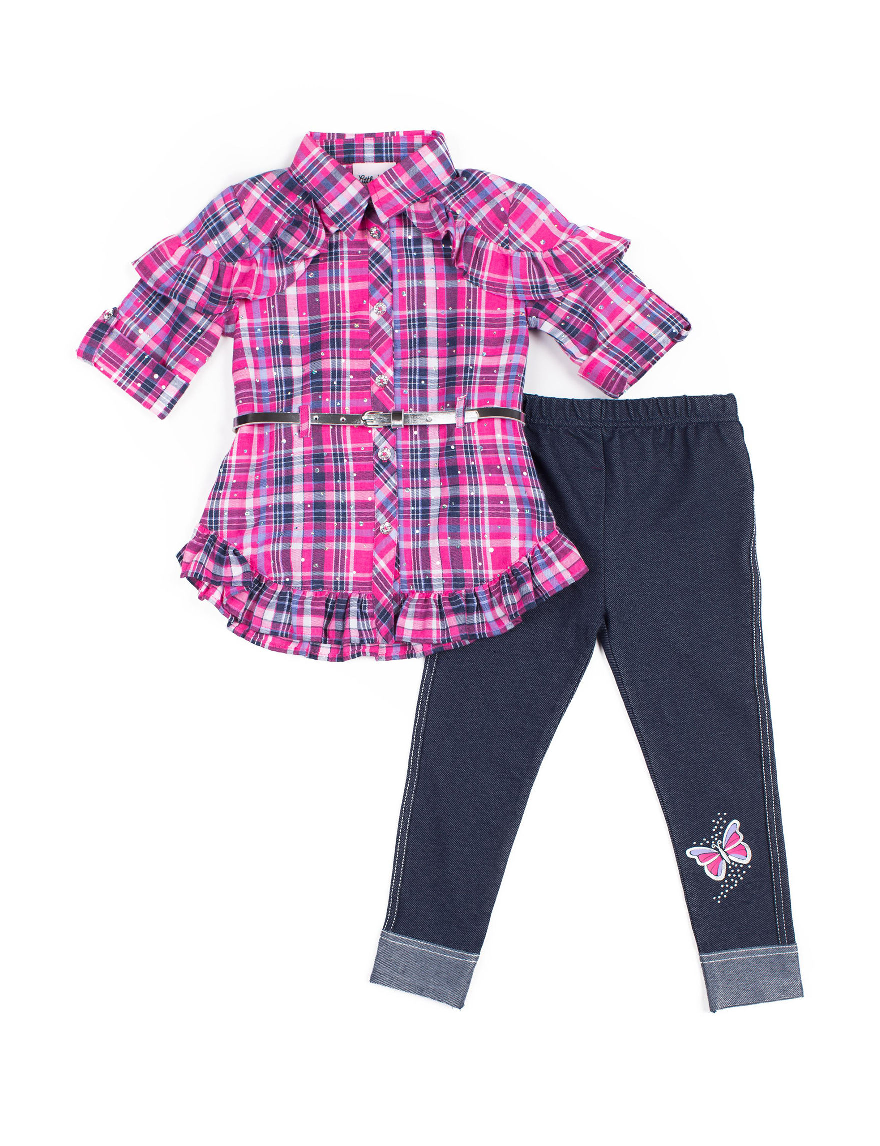 Little Lass Pink Plaid