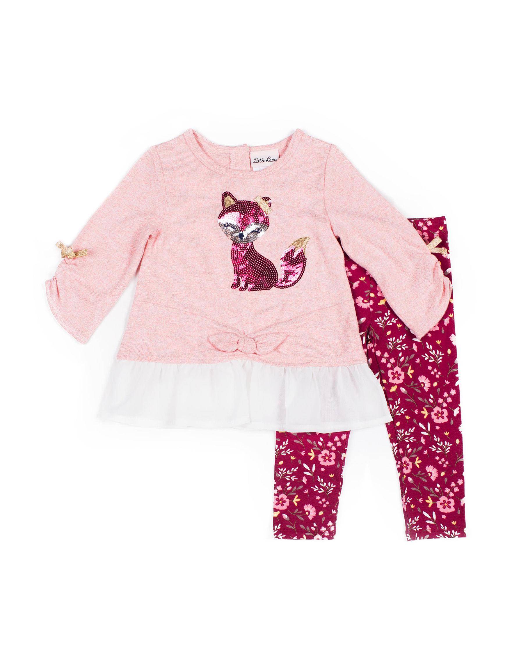 Little Lass Pink / Burgundy
