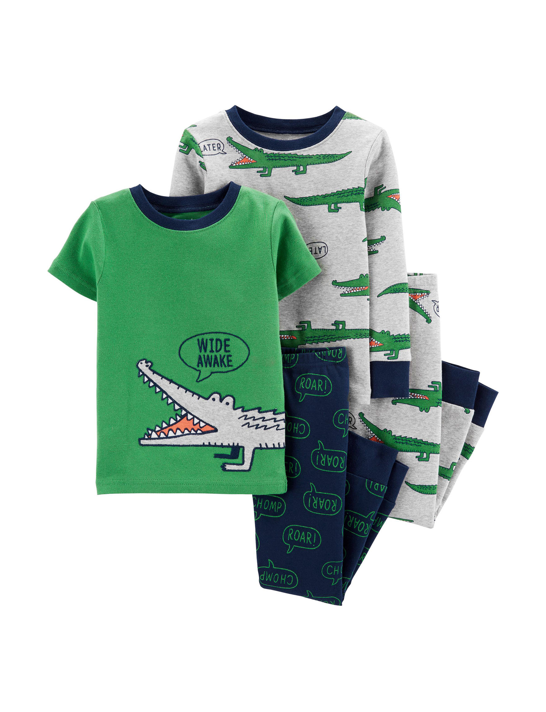 Carter's Green / Navy Pajama Sets