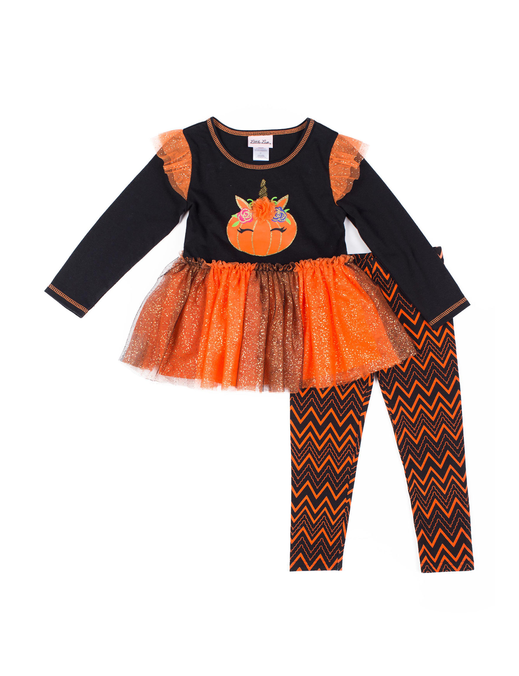Little Lass Black / Orange