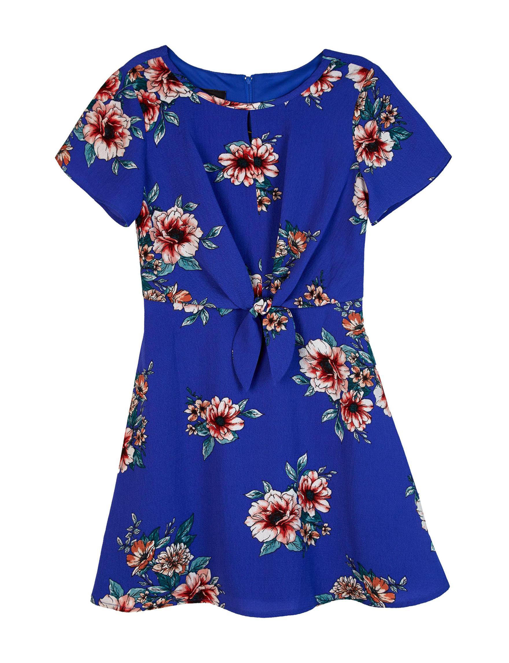 Amy Byer Blue Floral