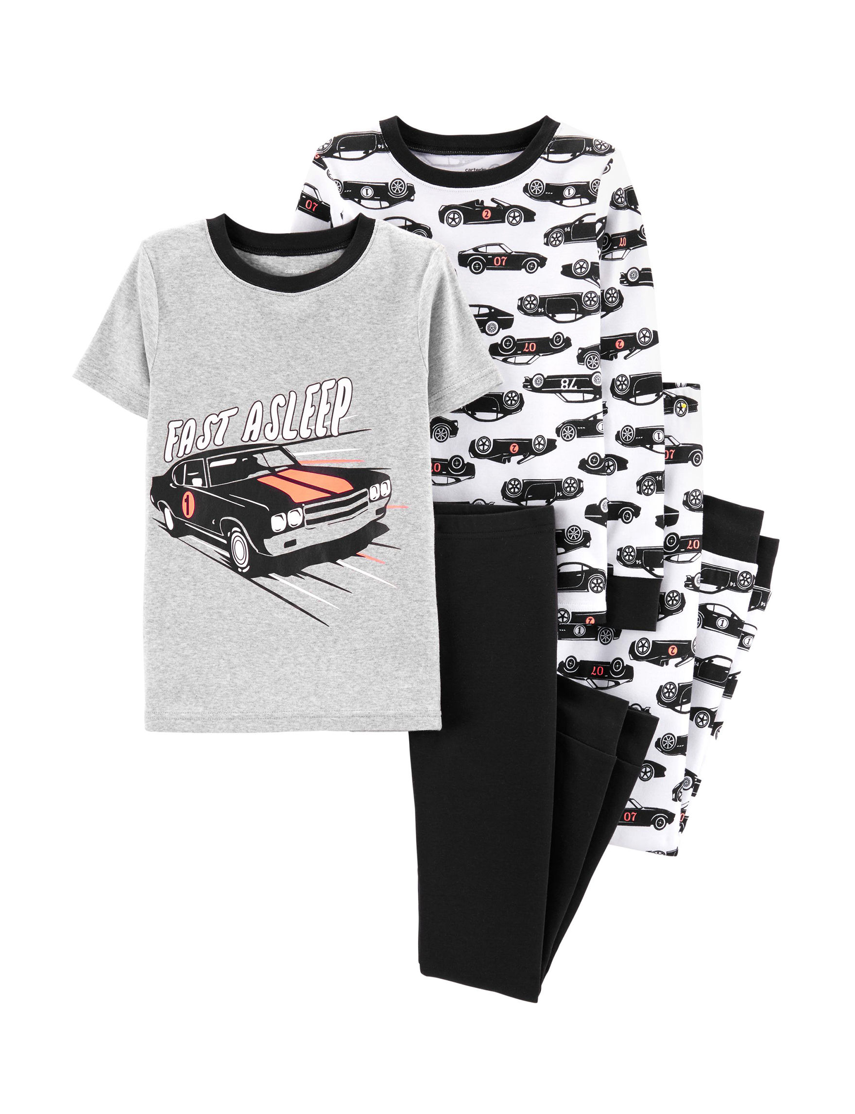 Carter's Grey / Black Multi Pajama Sets