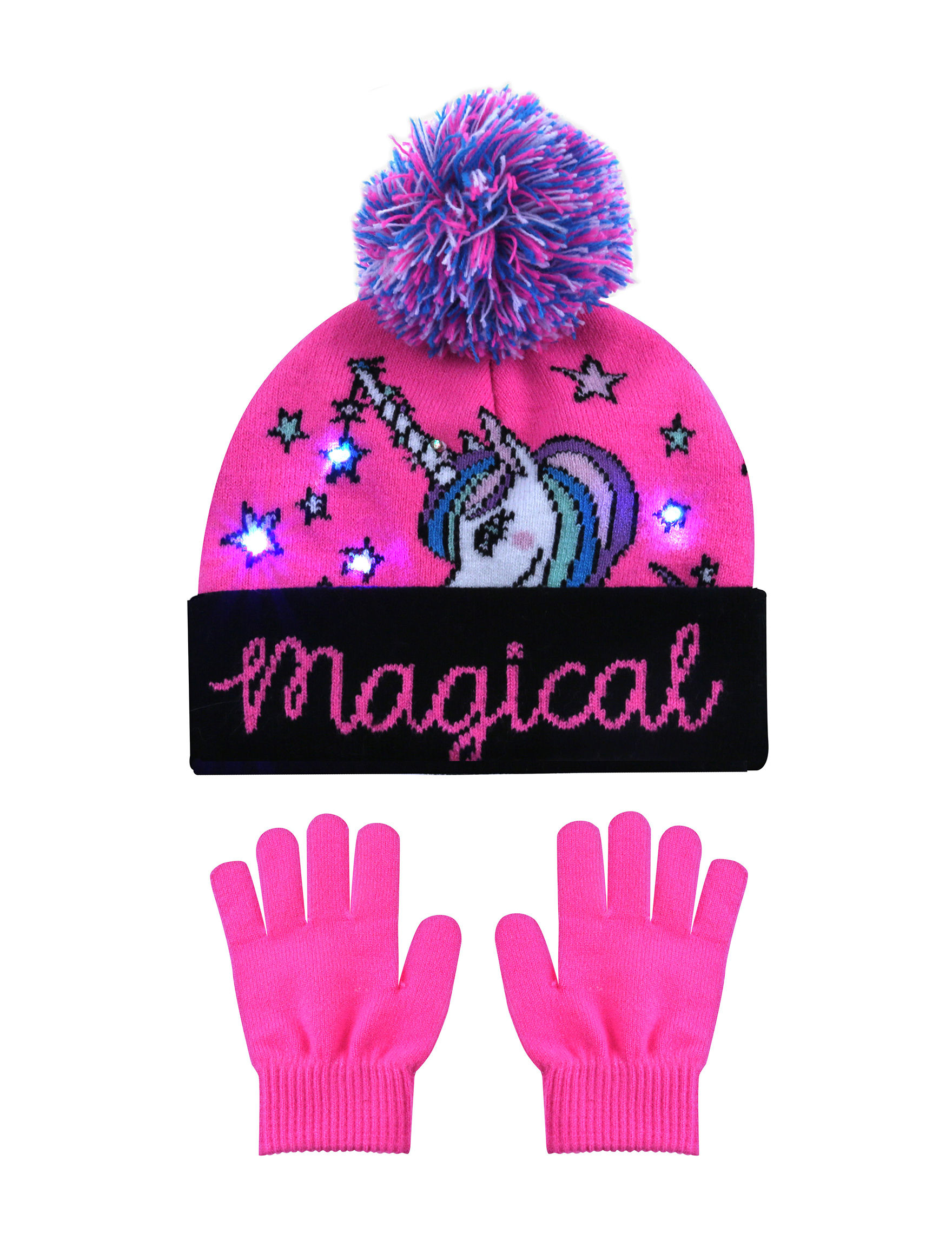 Capelli Pink Combo Hats, Gloves & Scarves