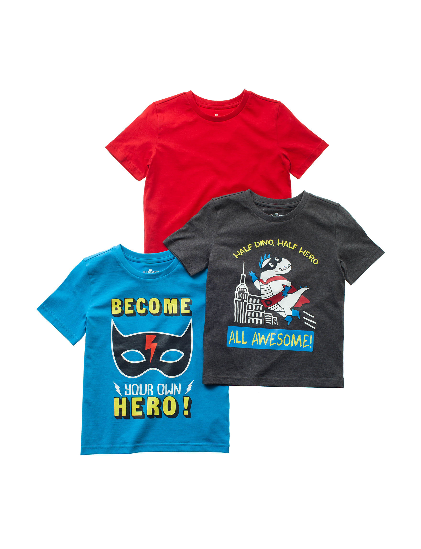 Hollywood Jeans Blue / Red Tees & Tanks