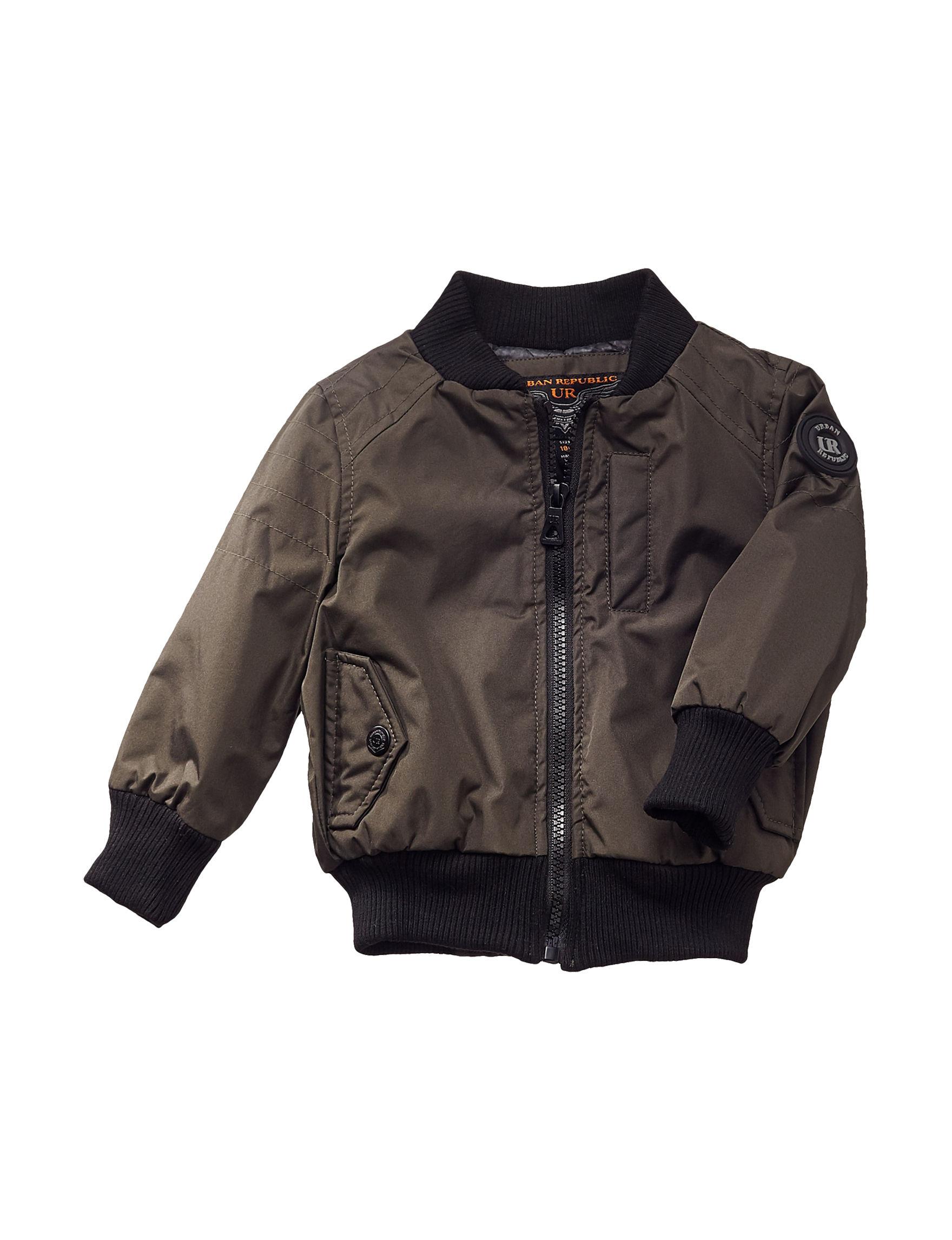 Urban Republic Olive Fleece & Soft Shell Jackets