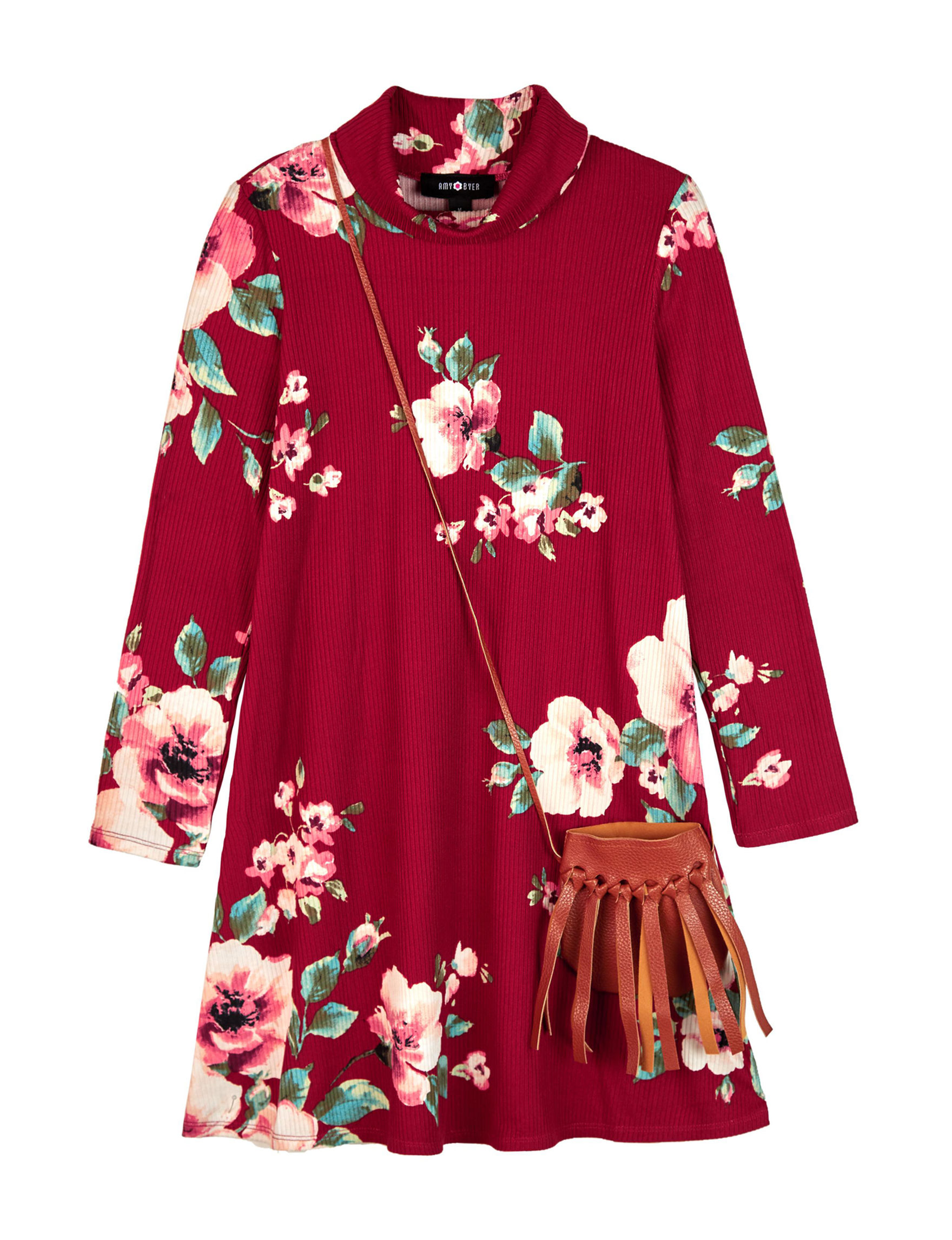 Amy Byer Red Floral