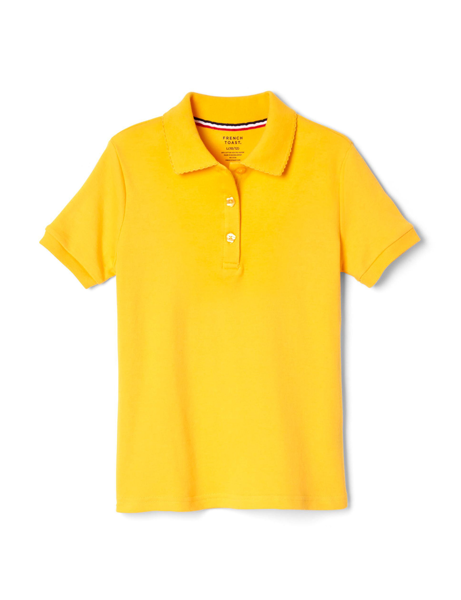 French Toast Yellow Polos