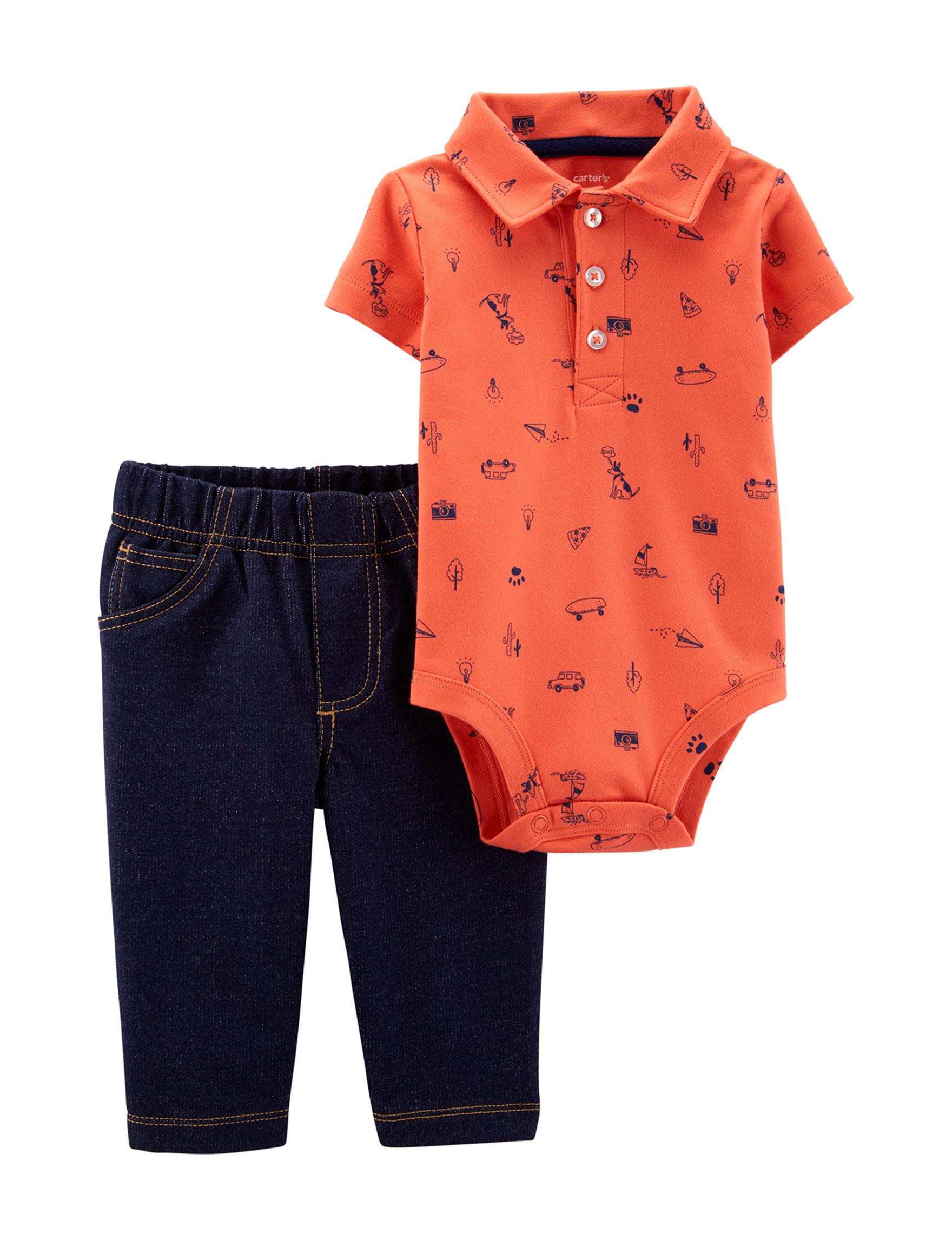 Carter's Orange / Navy