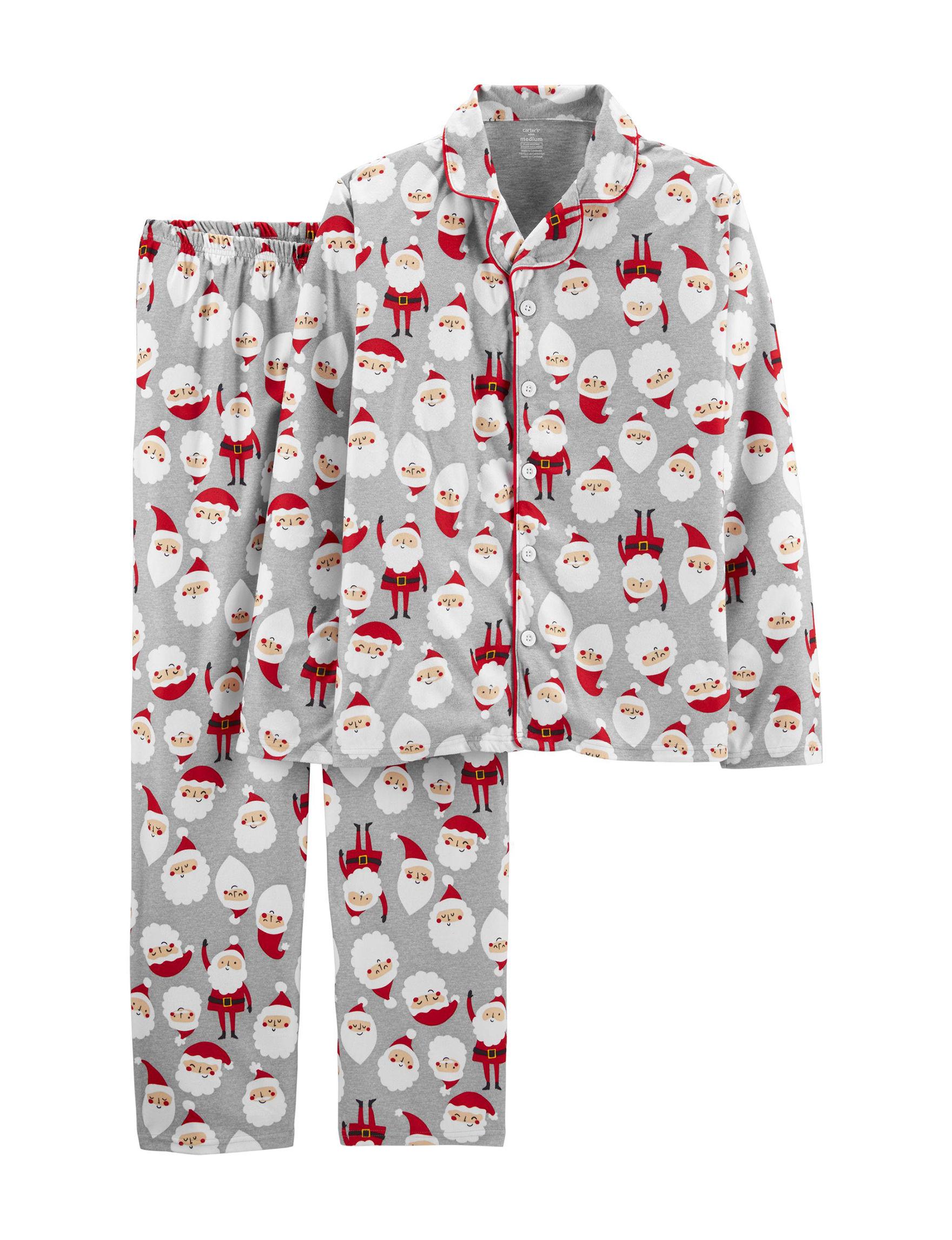 Carter's Grey / Red Pajama Sets