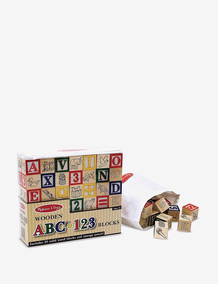 Melissa amp Doug Wooden ABC123 Blocks -  - Melissa & Doug