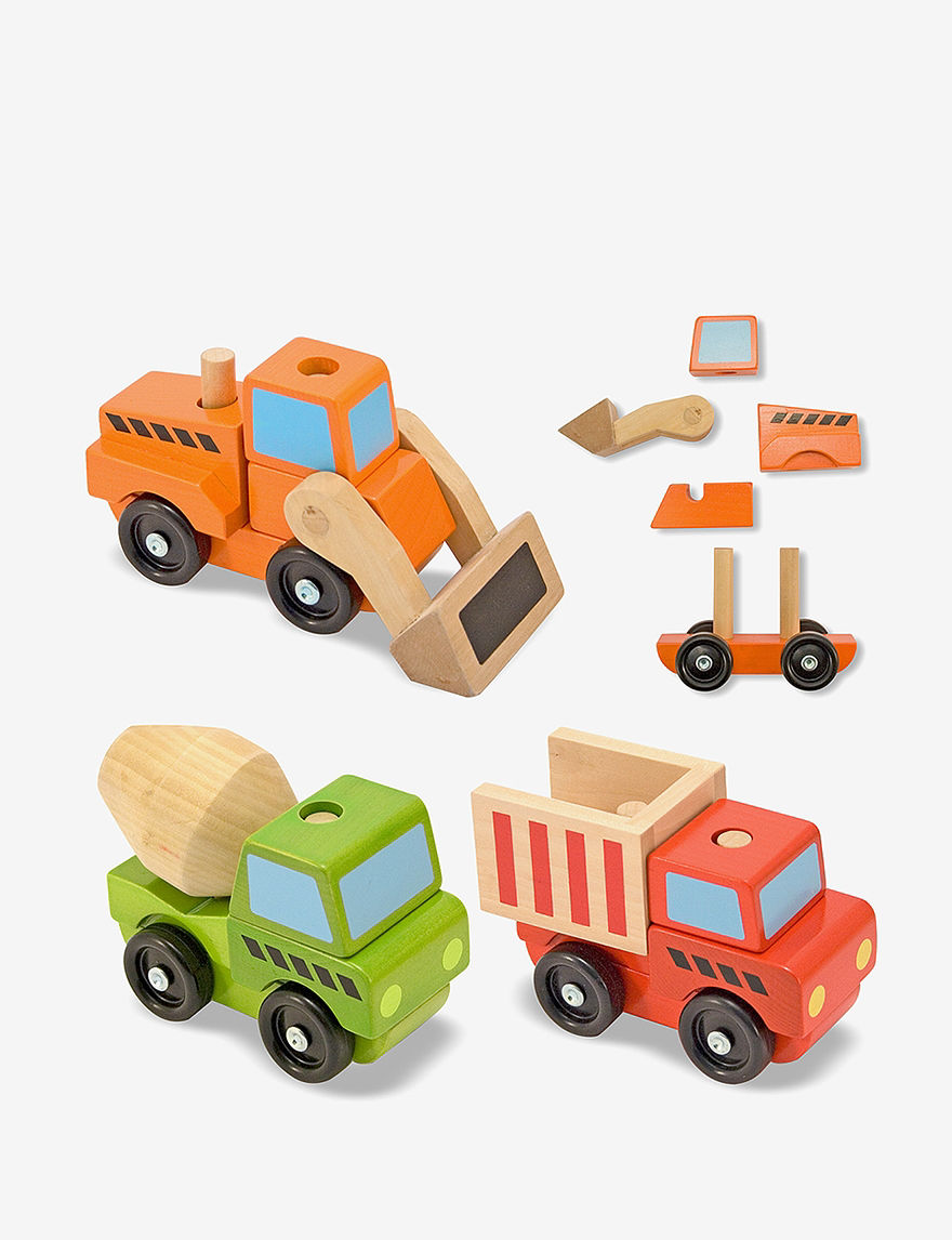 Melissa  Doug Stacking Construction Vehicles -  - Melissa & Doug