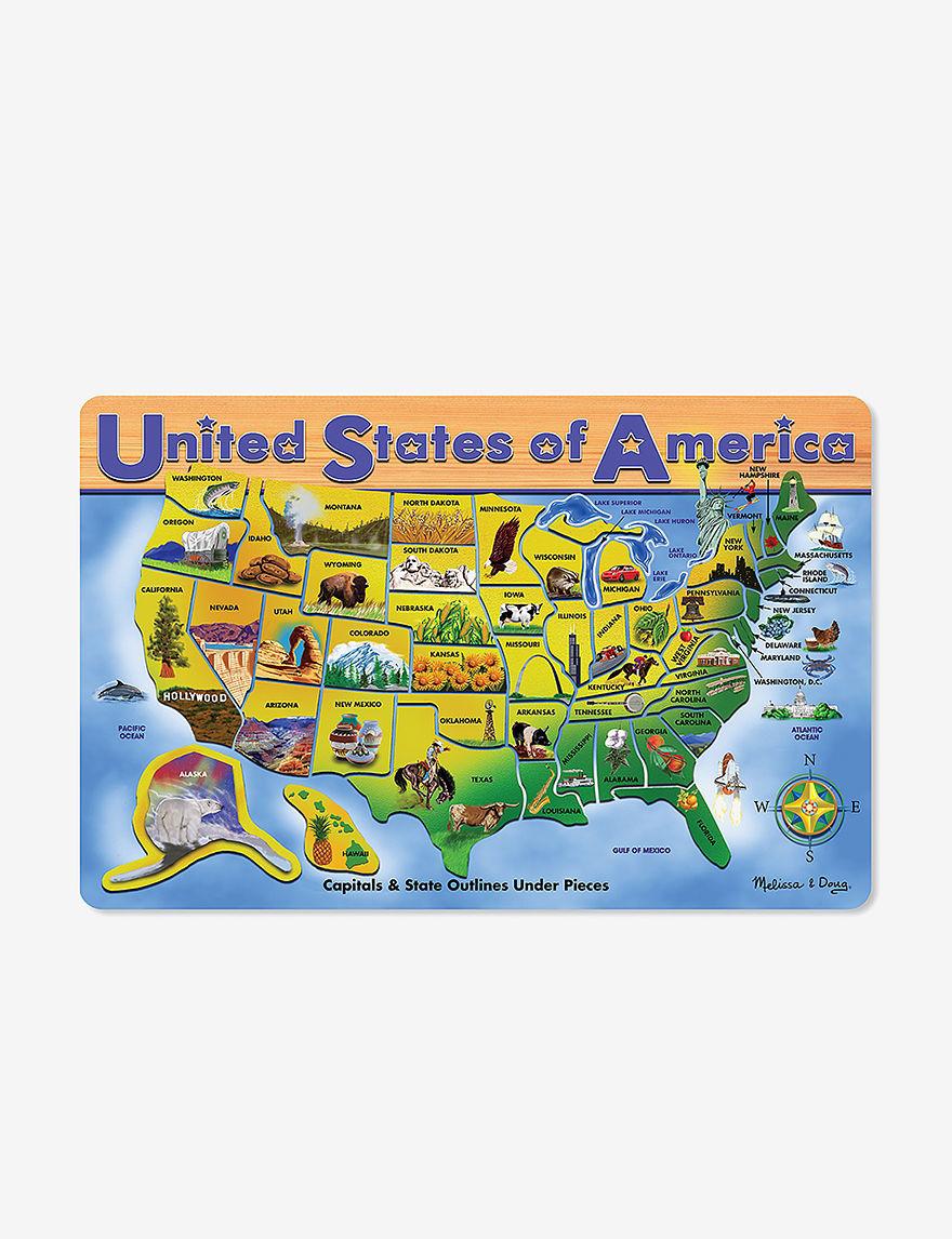 Melissa  Doug USA Map -  - Melissa & Doug