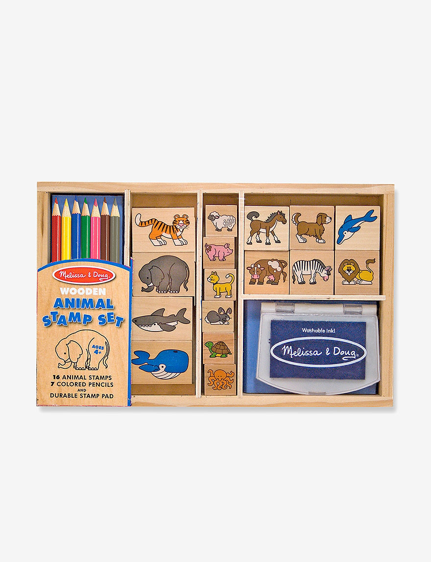 Melissa  Doug Animal Stamp Set -  - Melissa & Doug
