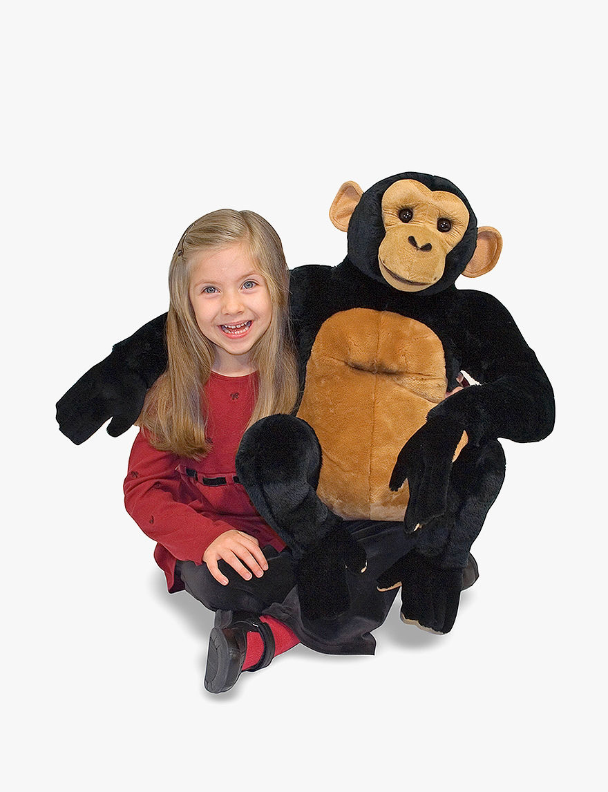 Melissa  Doug Chimpanzee Plush -  - Melissa & Doug