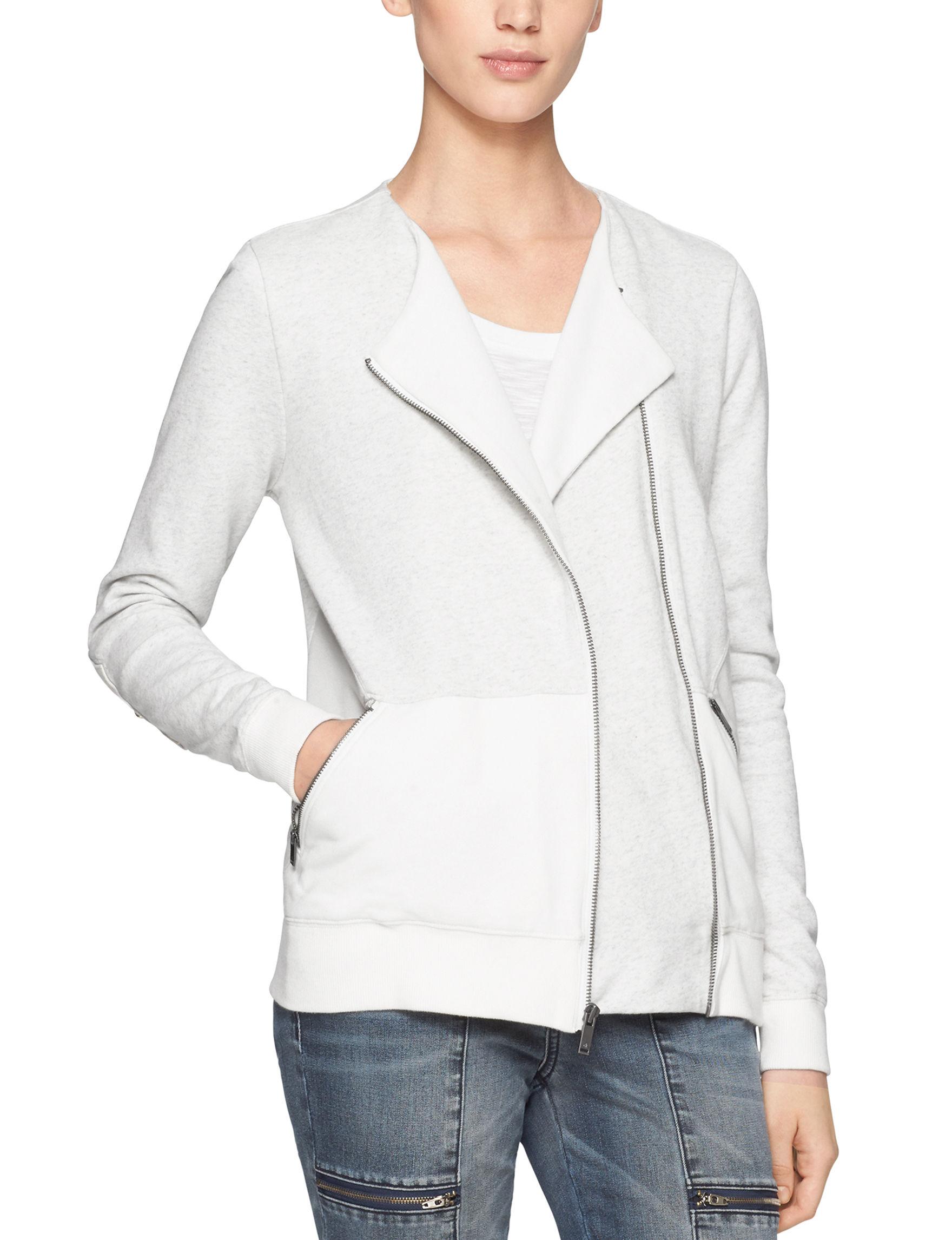 Calvin Klein Jeans White Lightweight Jackets & Blazers