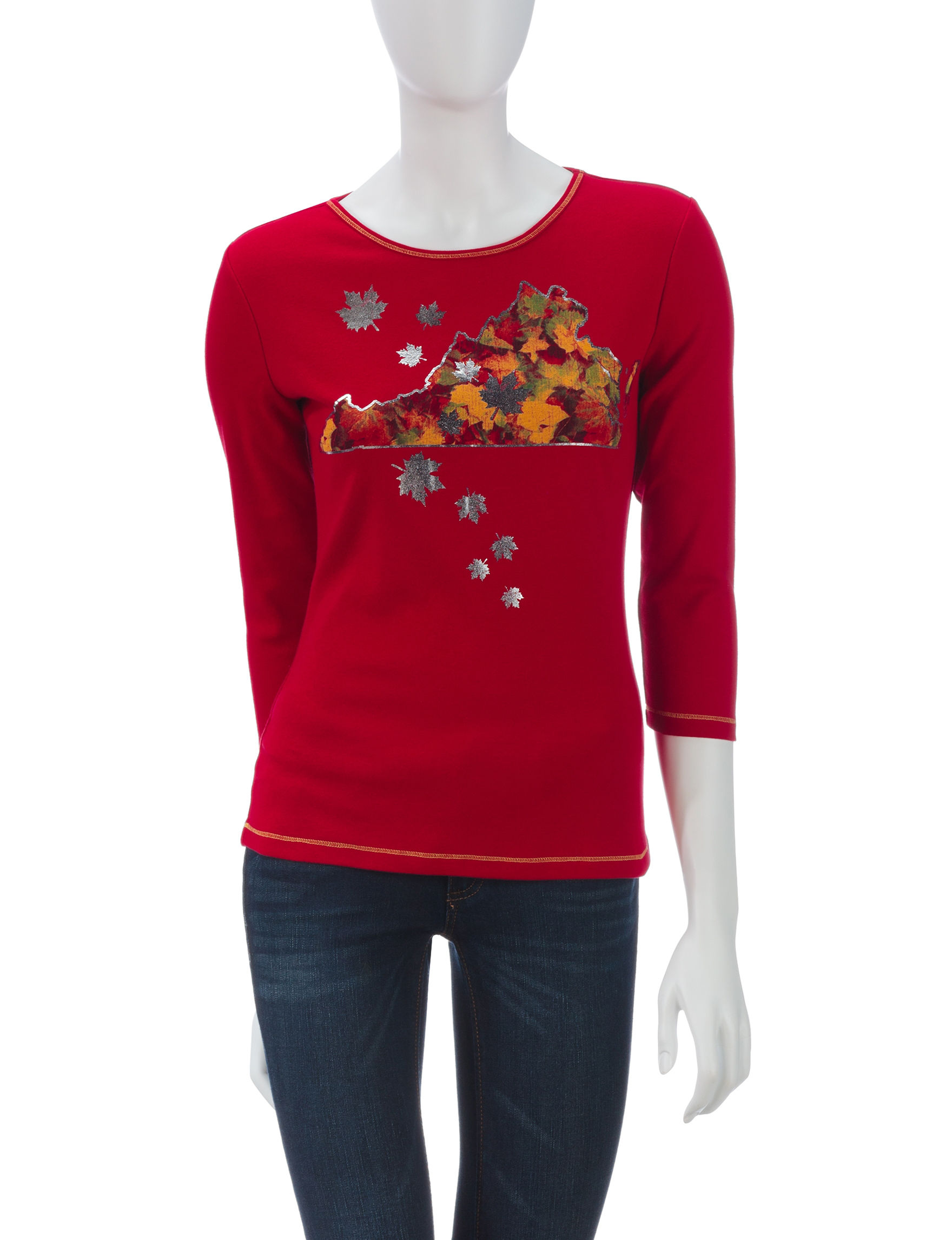 Blue Canyon Red Shirts & Blouses