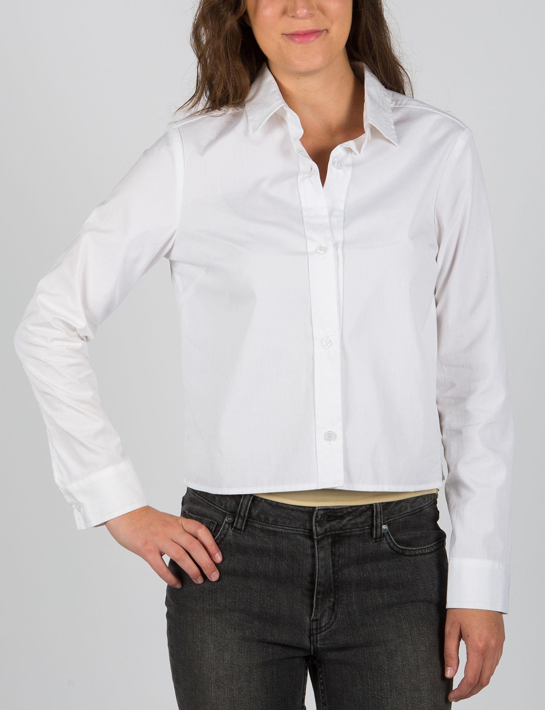 ABS by Allen Schwartz White Shirts & Blouses Strapless