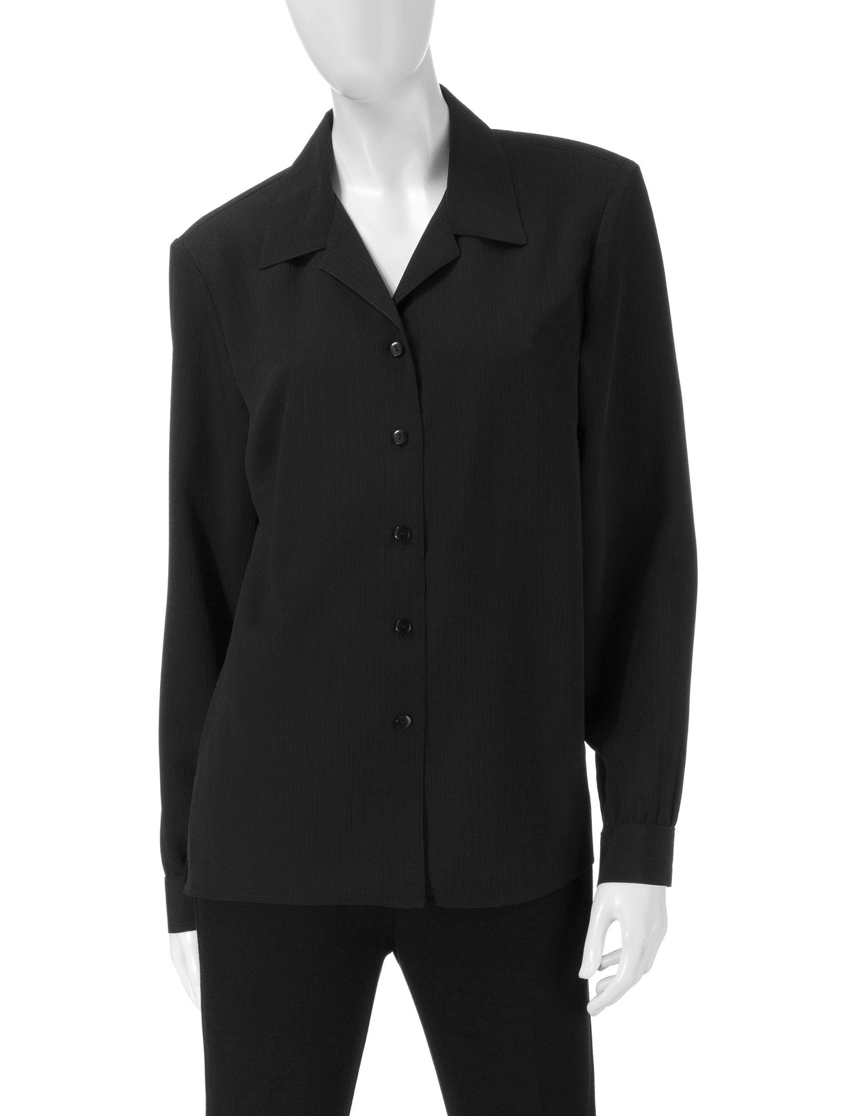 Donnkenny Black Shirts & Blouses