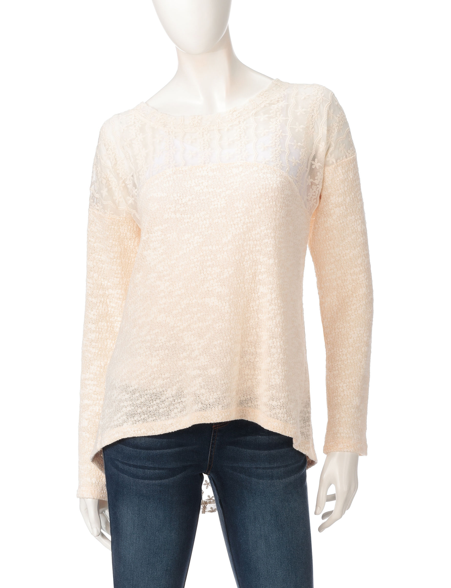 Hannah Beige Pull-overs Shirts & Blouses