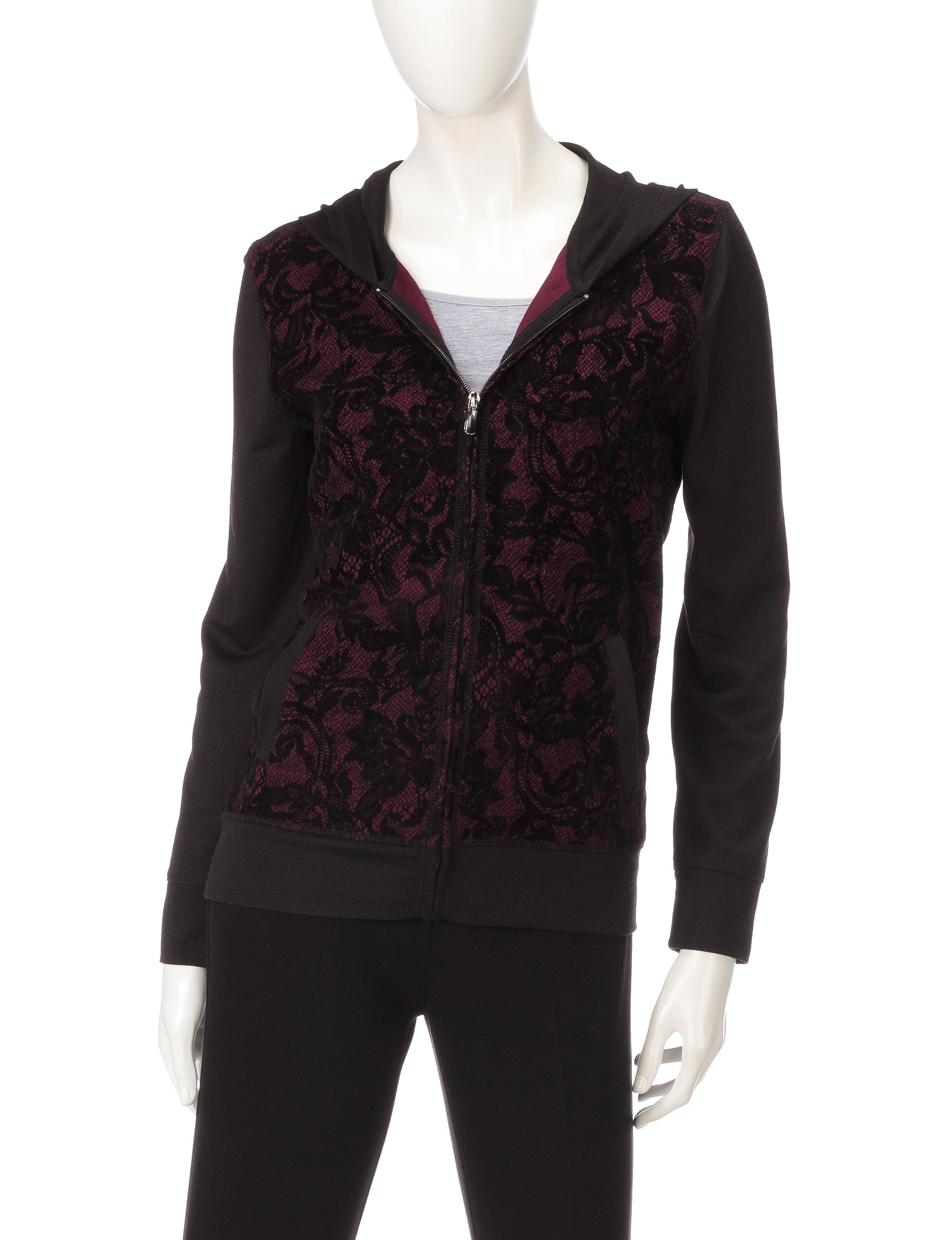 Onque Casuals Burgandy Shirts & Blouses
