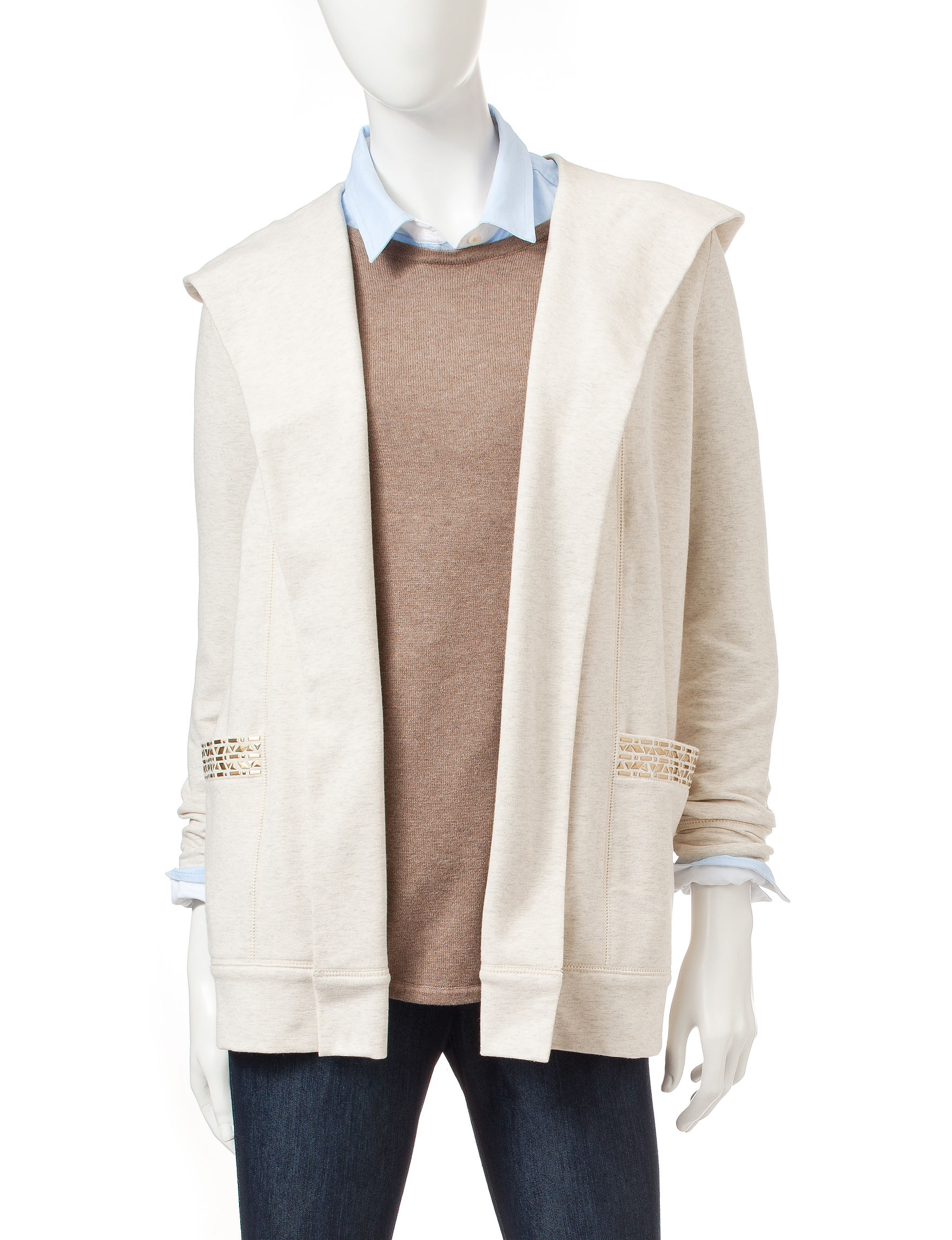 Ruby Road Beige Cardigans
