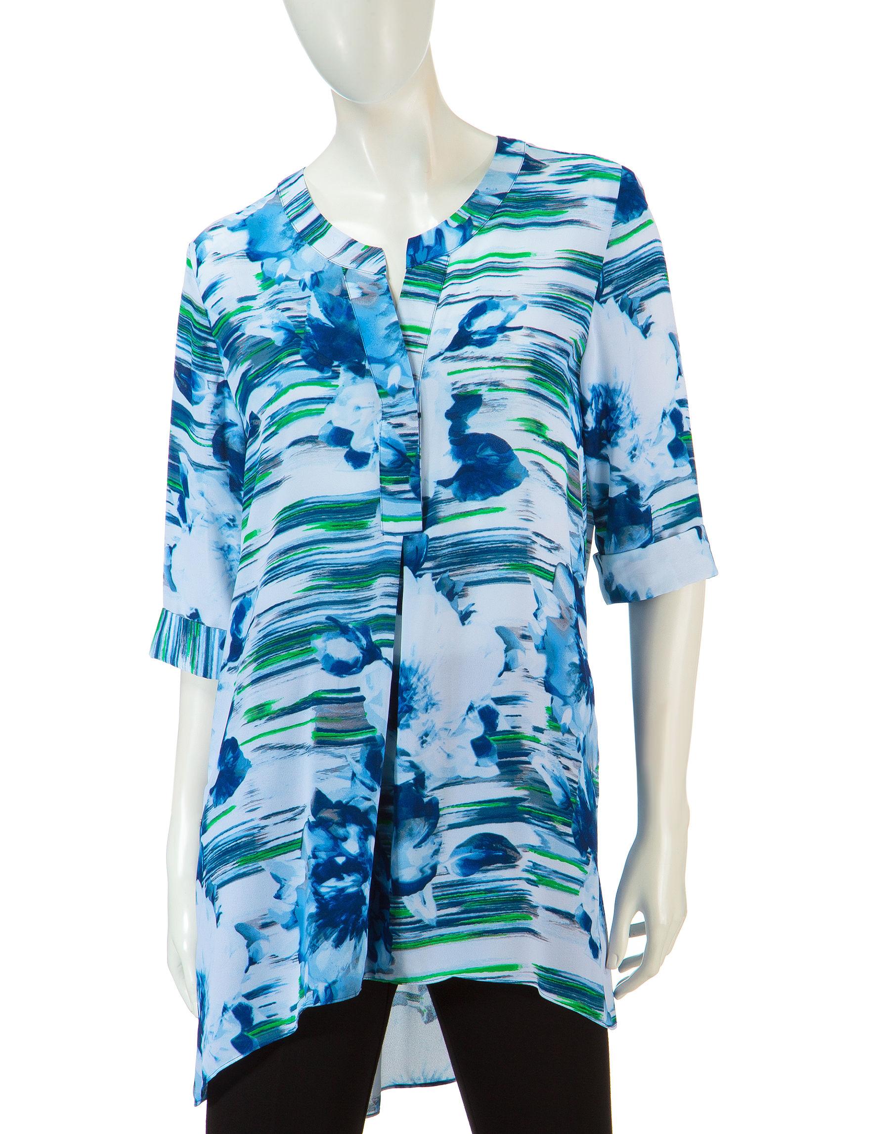 Valerie Stevens Blue / Green Shirts & Blouses