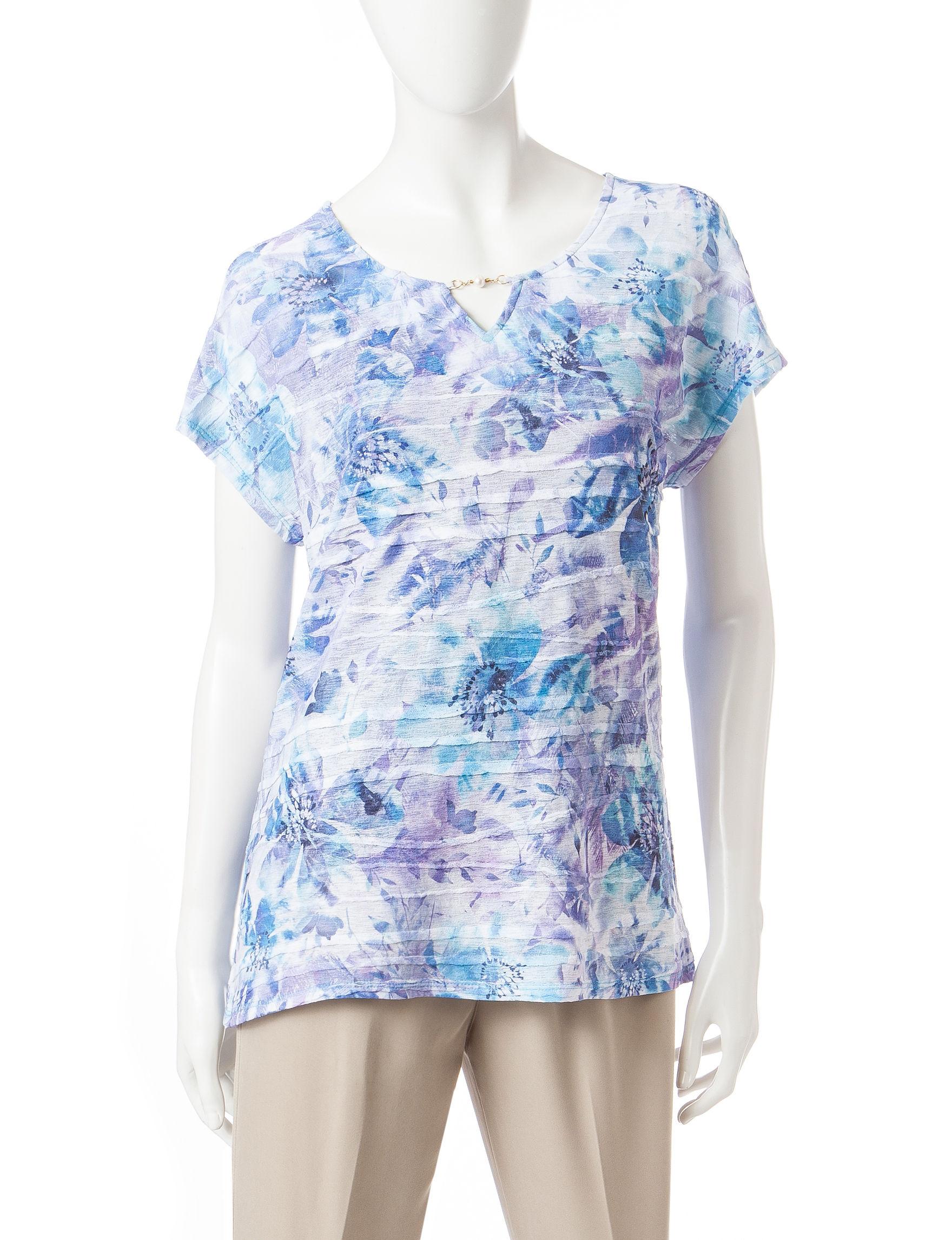 Rebecca Malone Aqua Shirts & Blouses