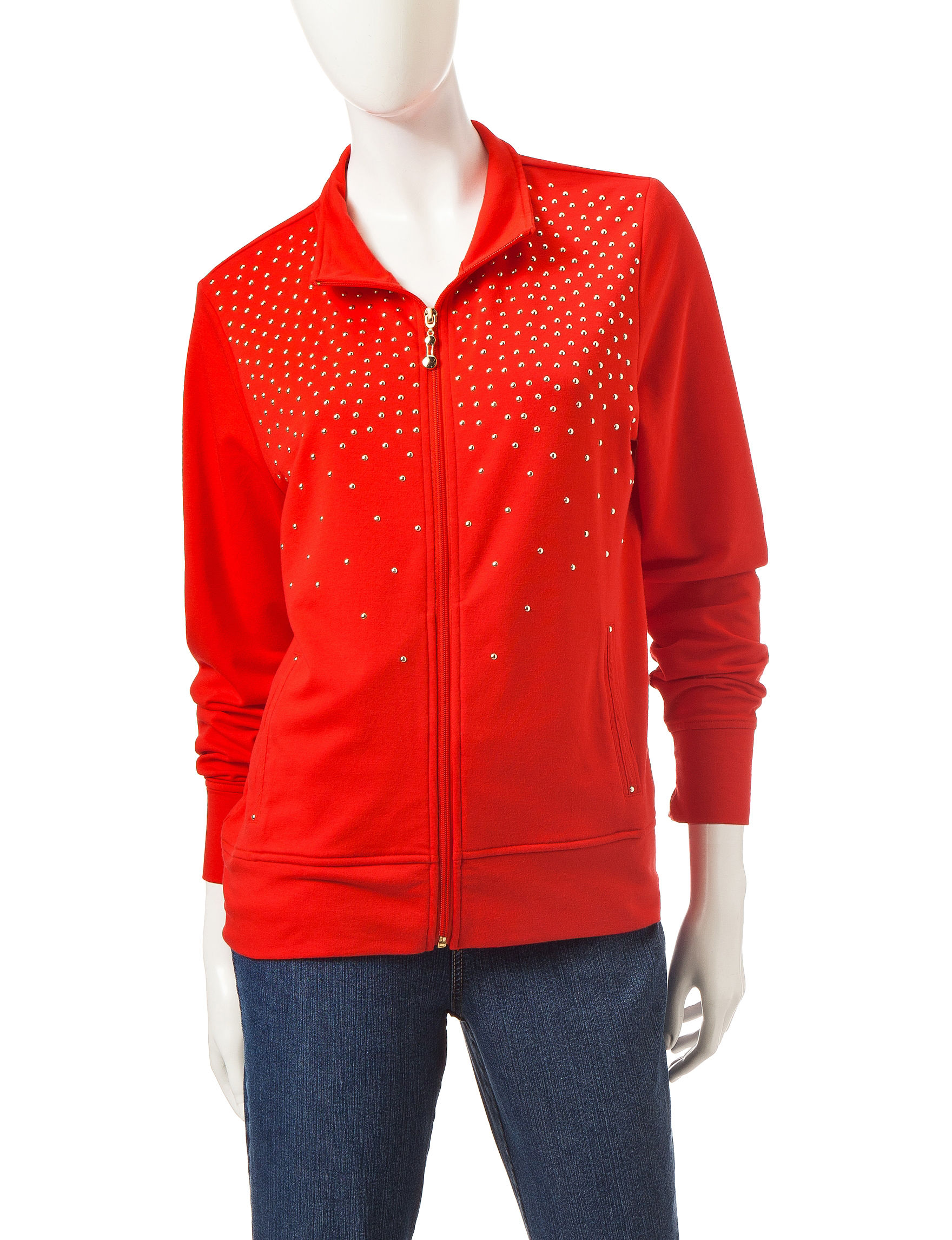 Onque Casuals Red Lightweight Jackets & Blazers