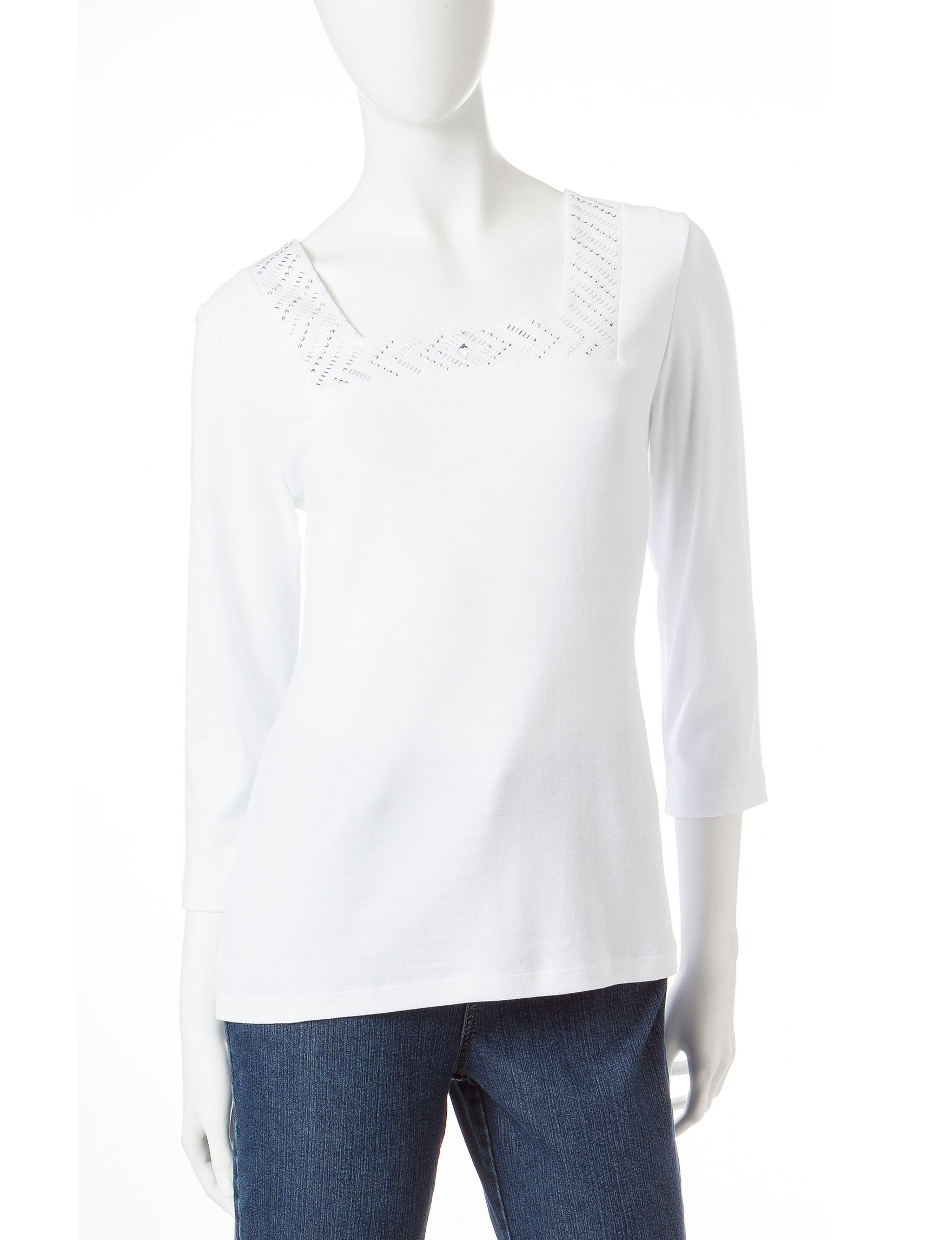 Rebecca Malone White Pull-overs Shirts & Blouses