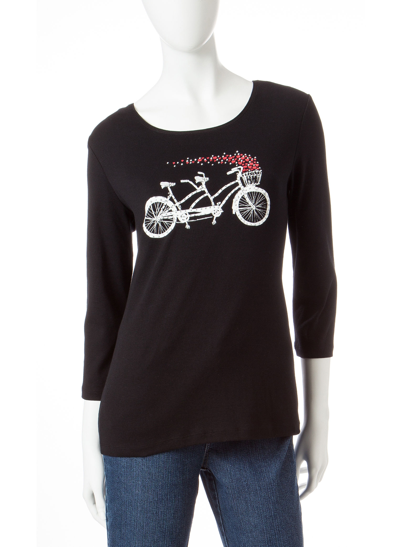 Rebecca Malone Black Pull-overs Shirts & Blouses