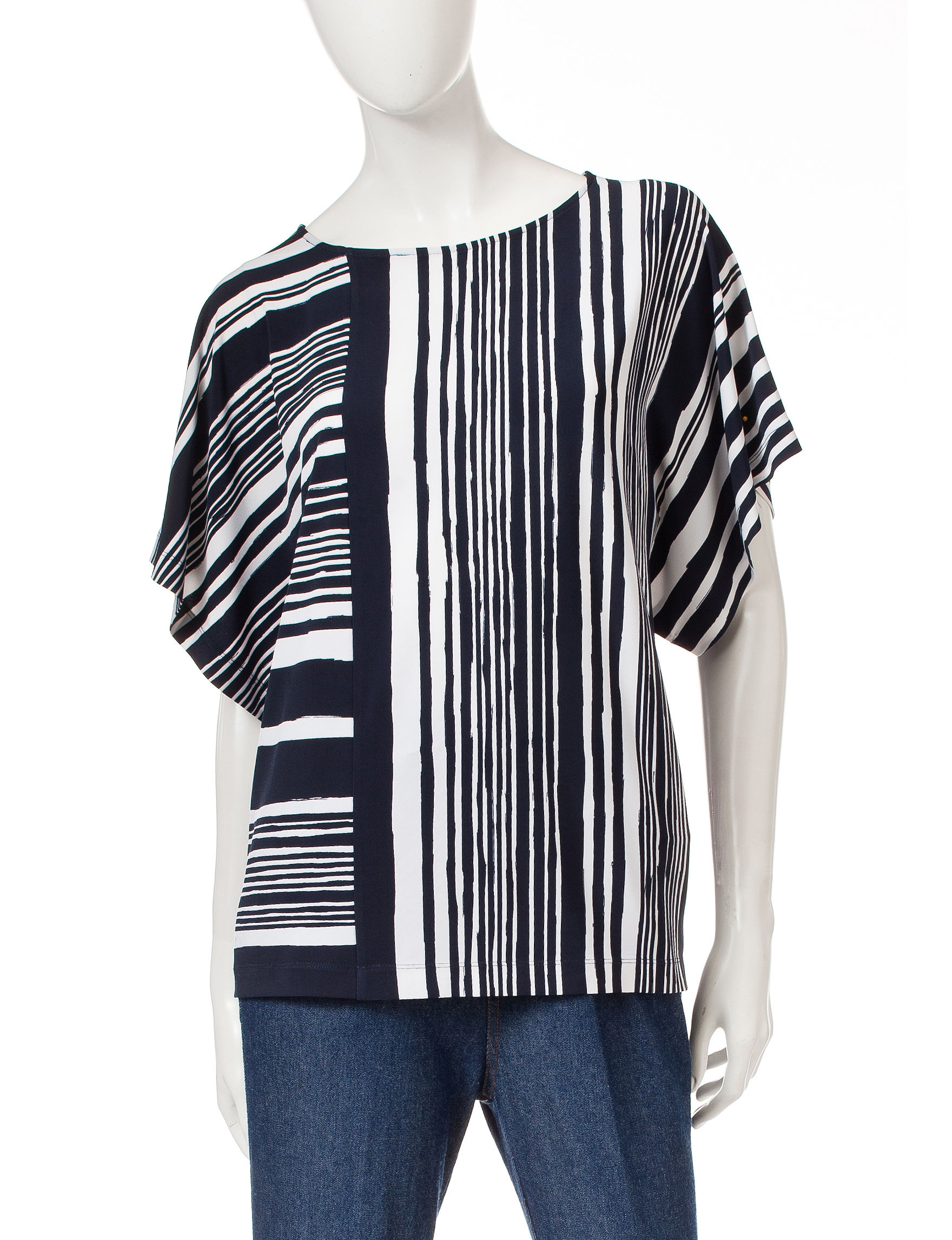 Ruby Road Blue Pull-overs Shirts & Blouses