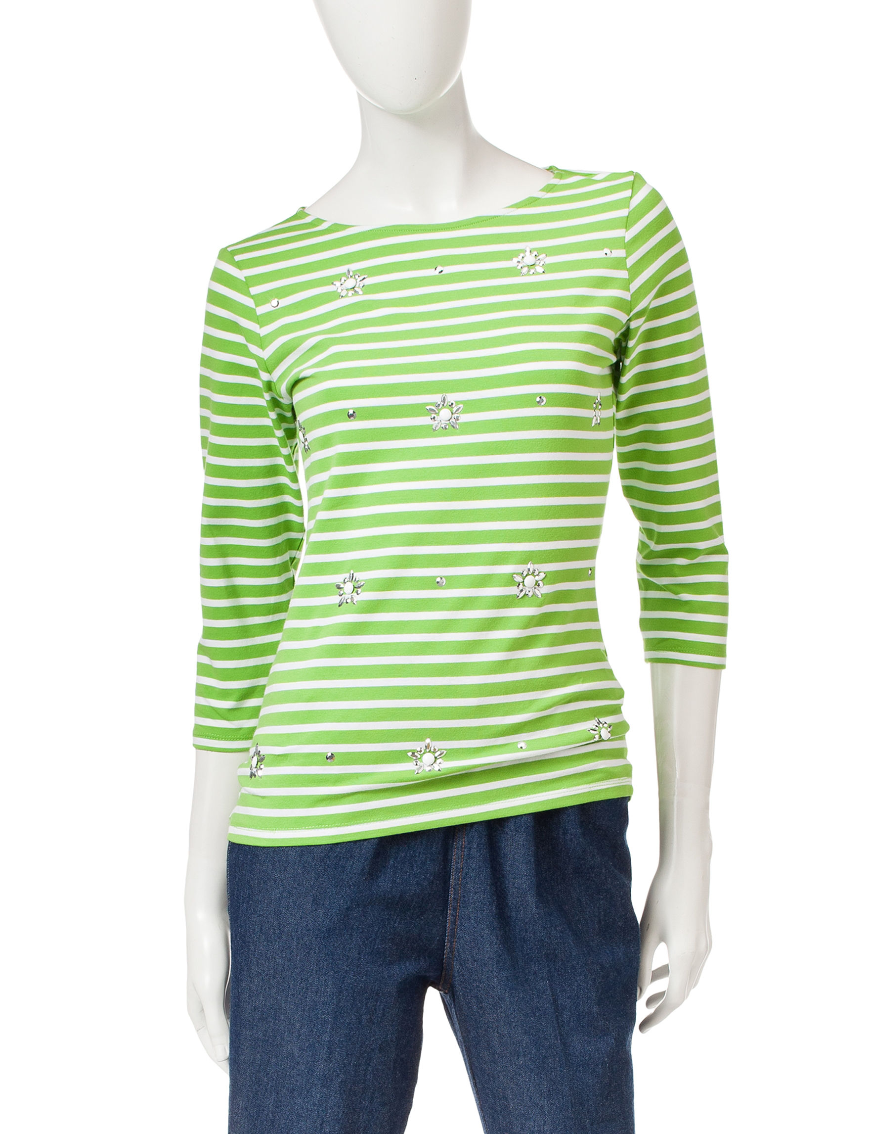 Ruby Road Green Pull-overs Shirts & Blouses