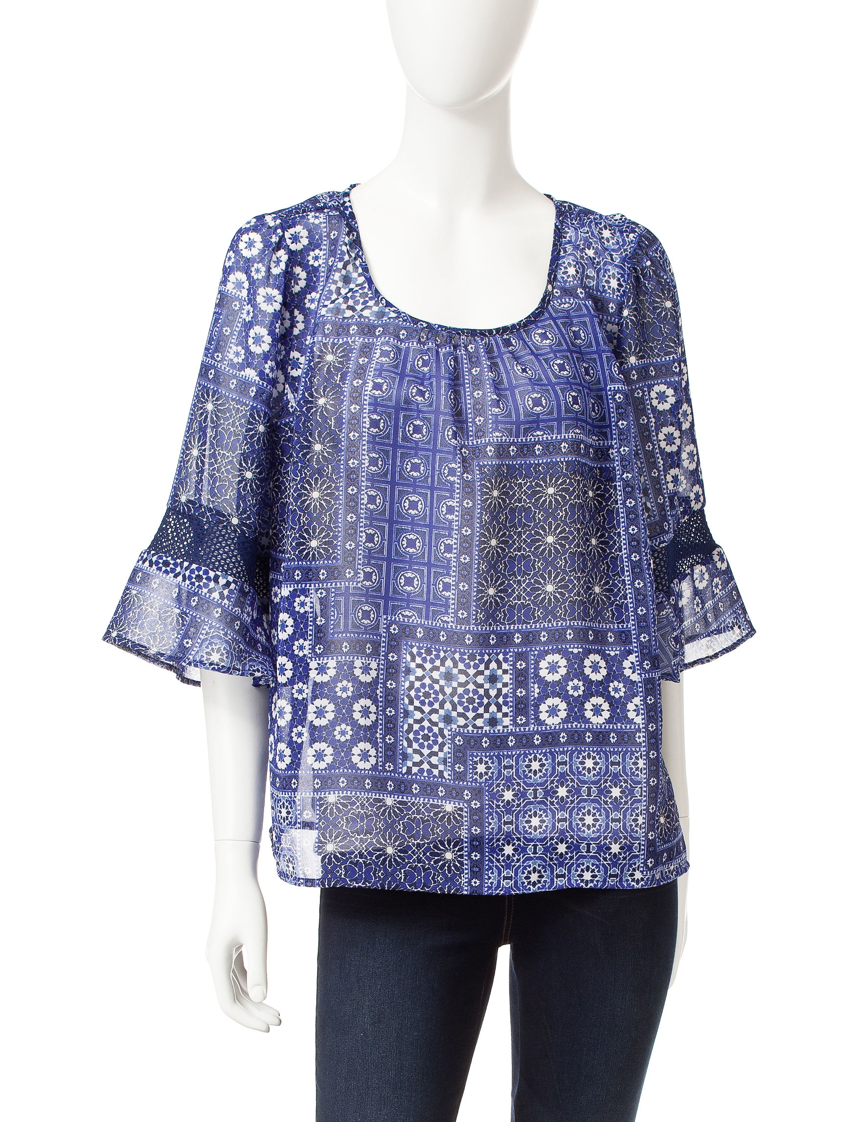 Hannah Blue Pull-overs Shirts & Blouses
