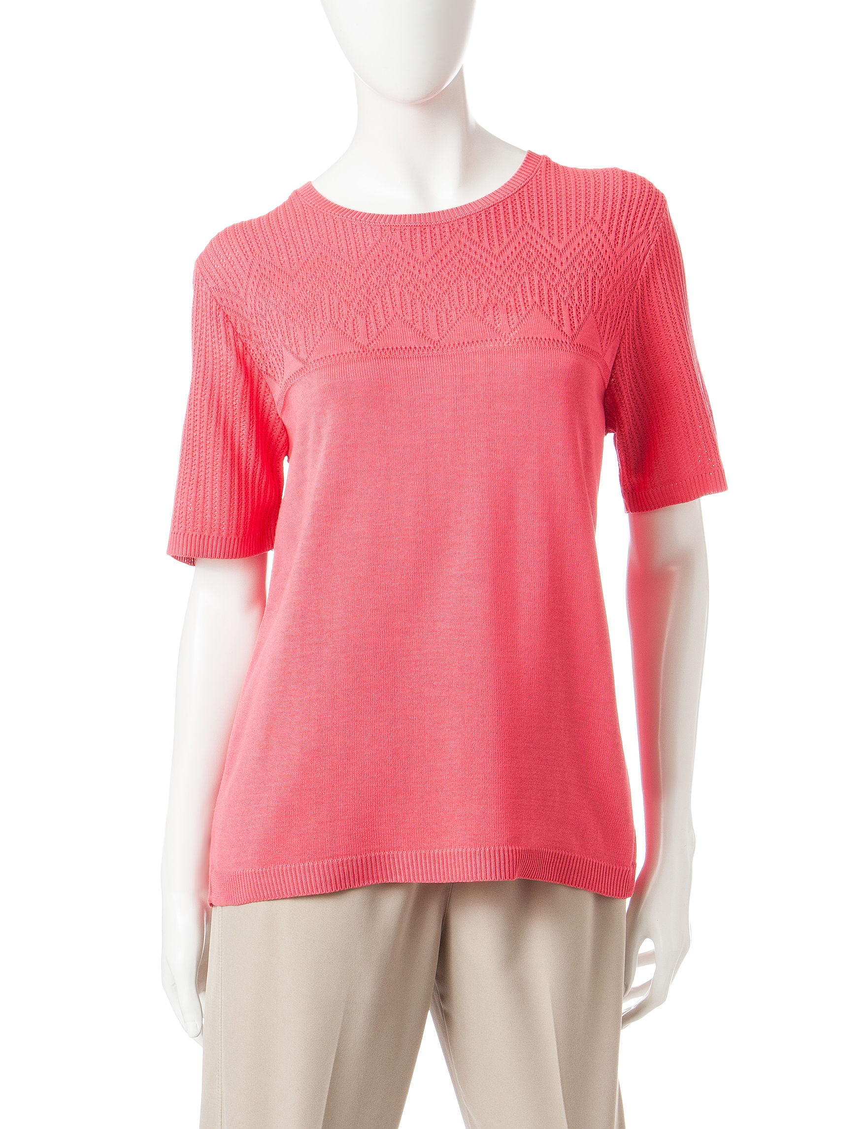 Alfred Dunner Pink Pull-overs Shirts & Blouses